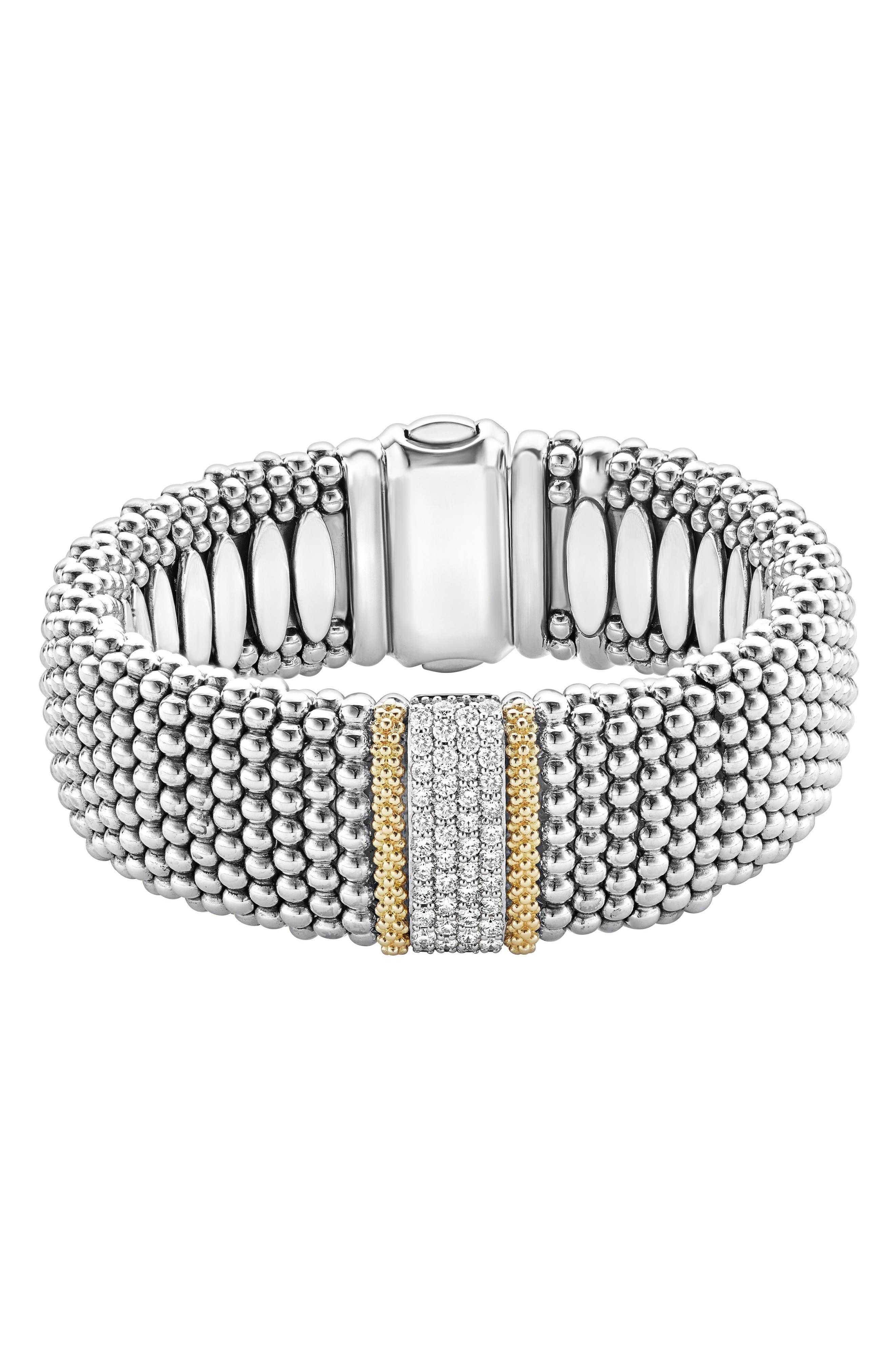 Diamond Lux Pavé Station Rope Bracelet,                         Main,                         color, Diamond
