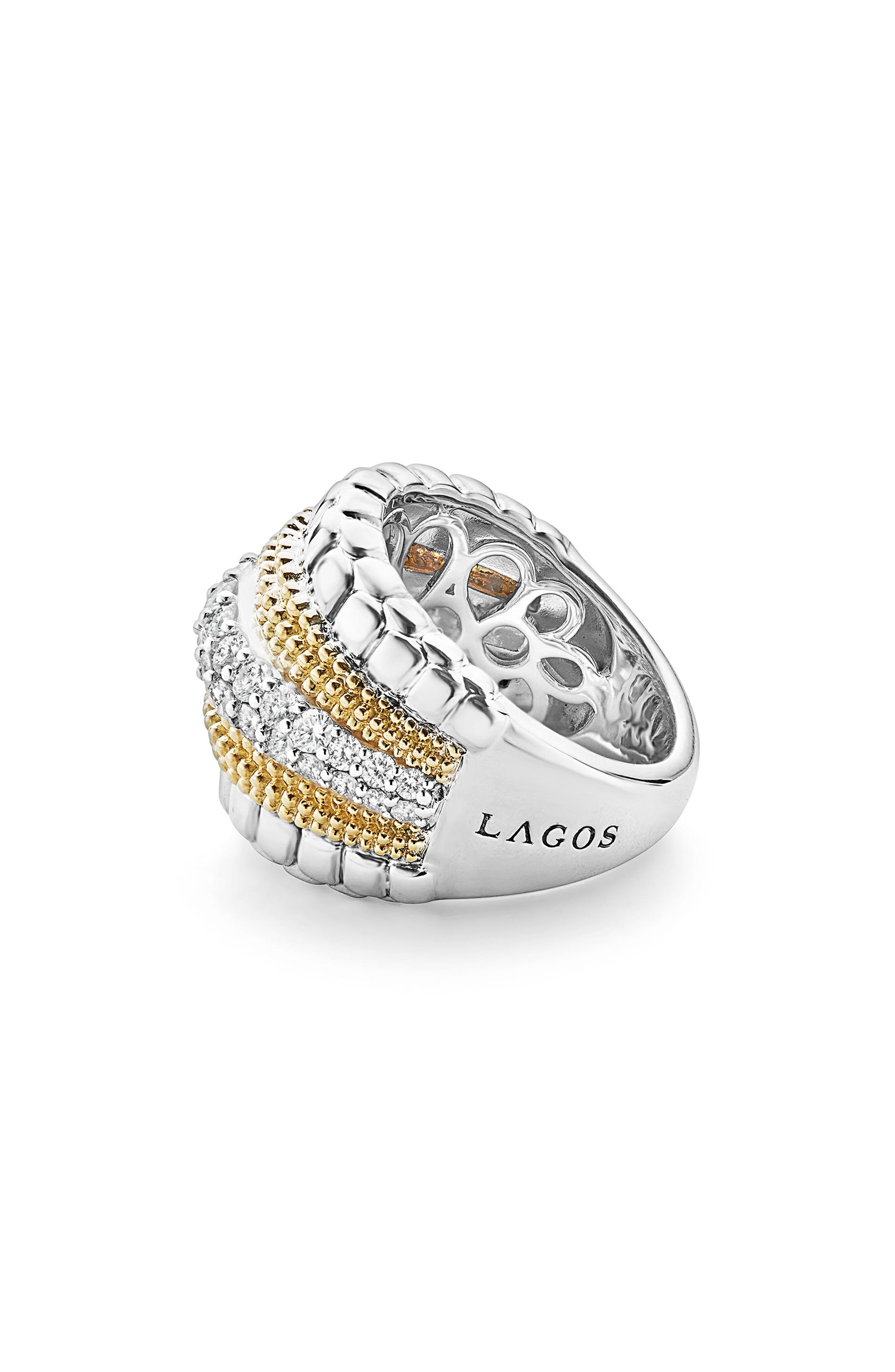 Diamond Lux Ring,                             Alternate thumbnail 3, color,                             Diamond