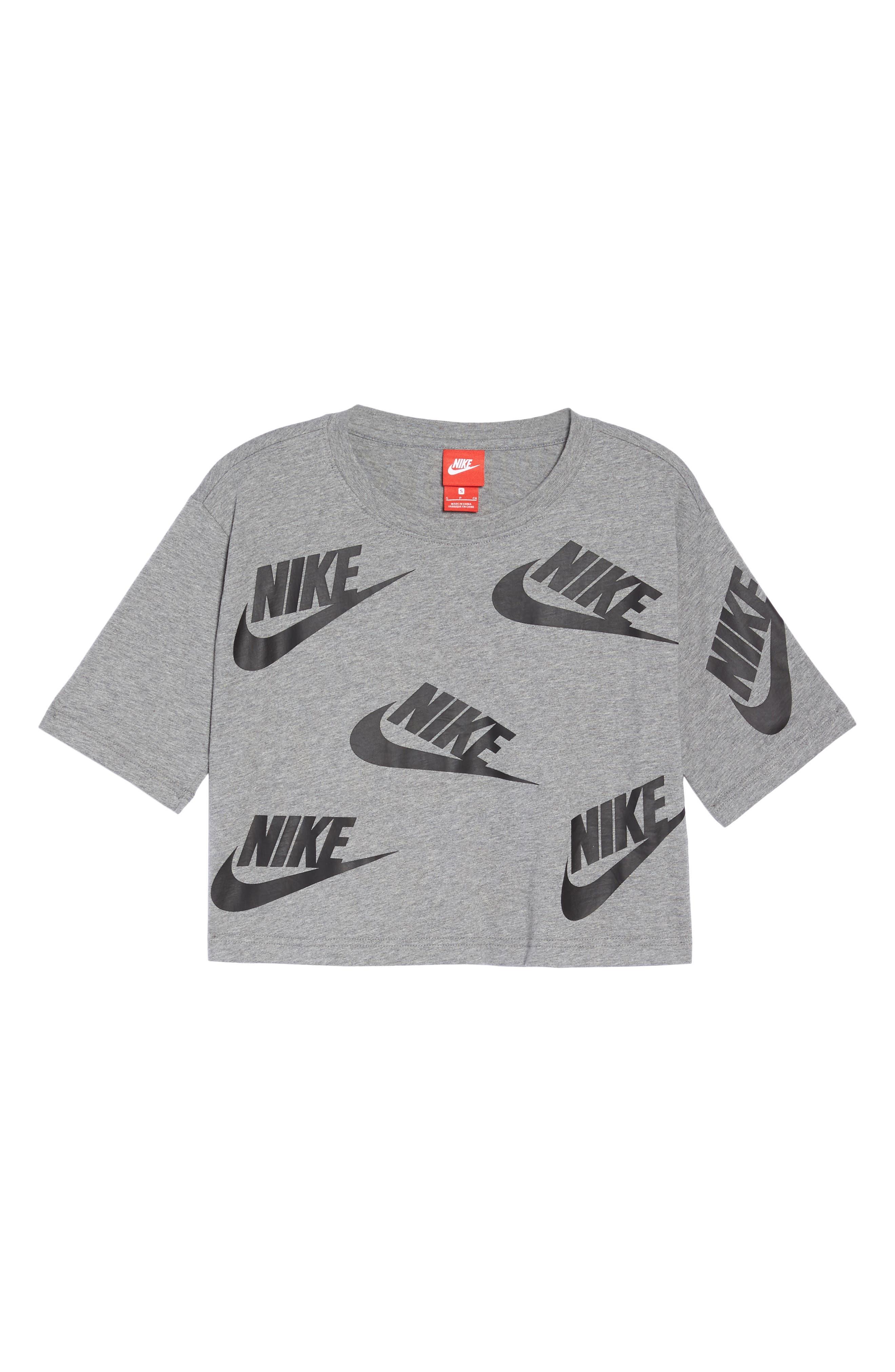 Alternate Image 7  - Nike Sportswear Futura Crop Tee