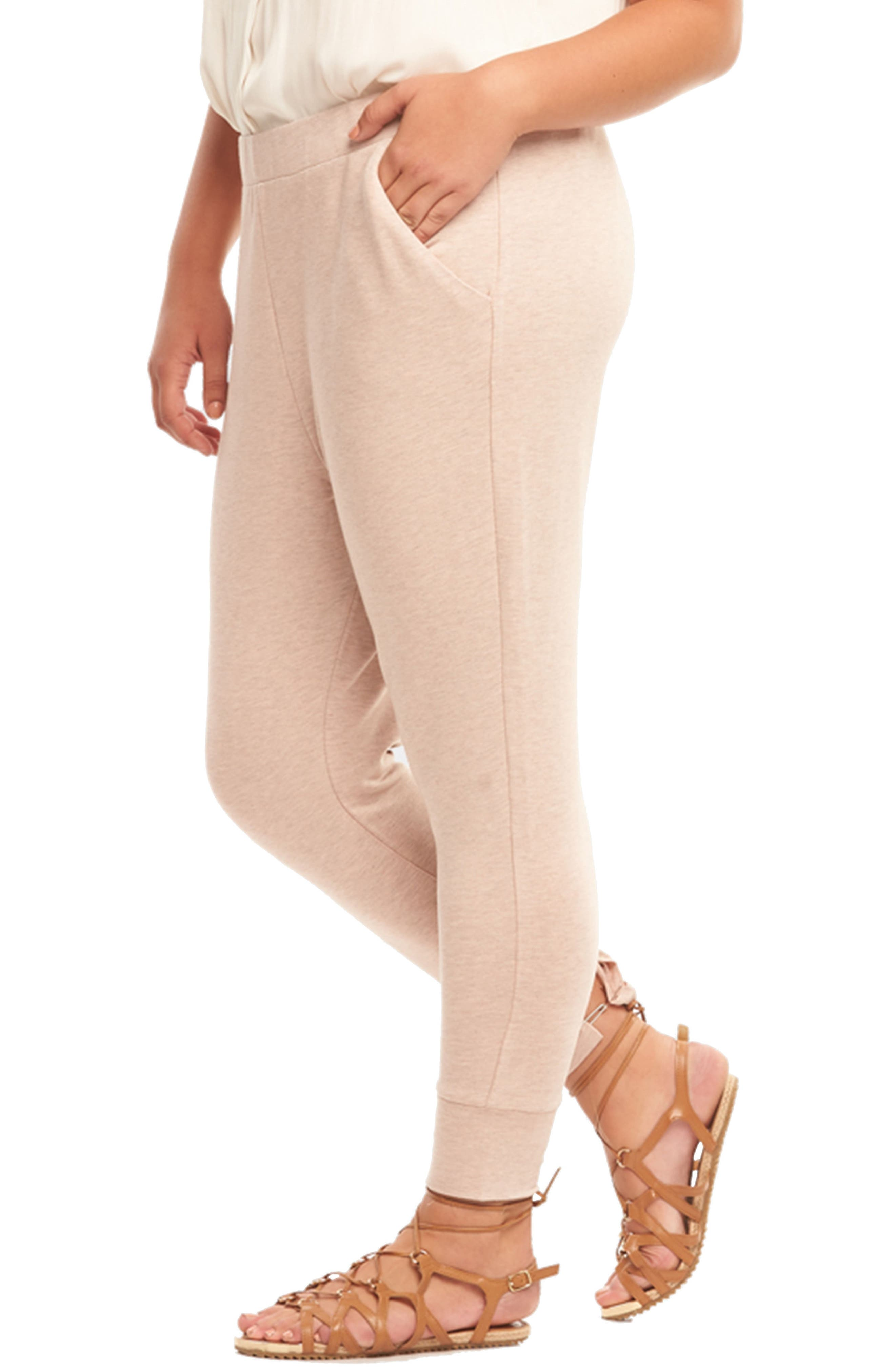 Zadie Jogger Pants,                             Alternate thumbnail 4, color,                             Blush With Rose