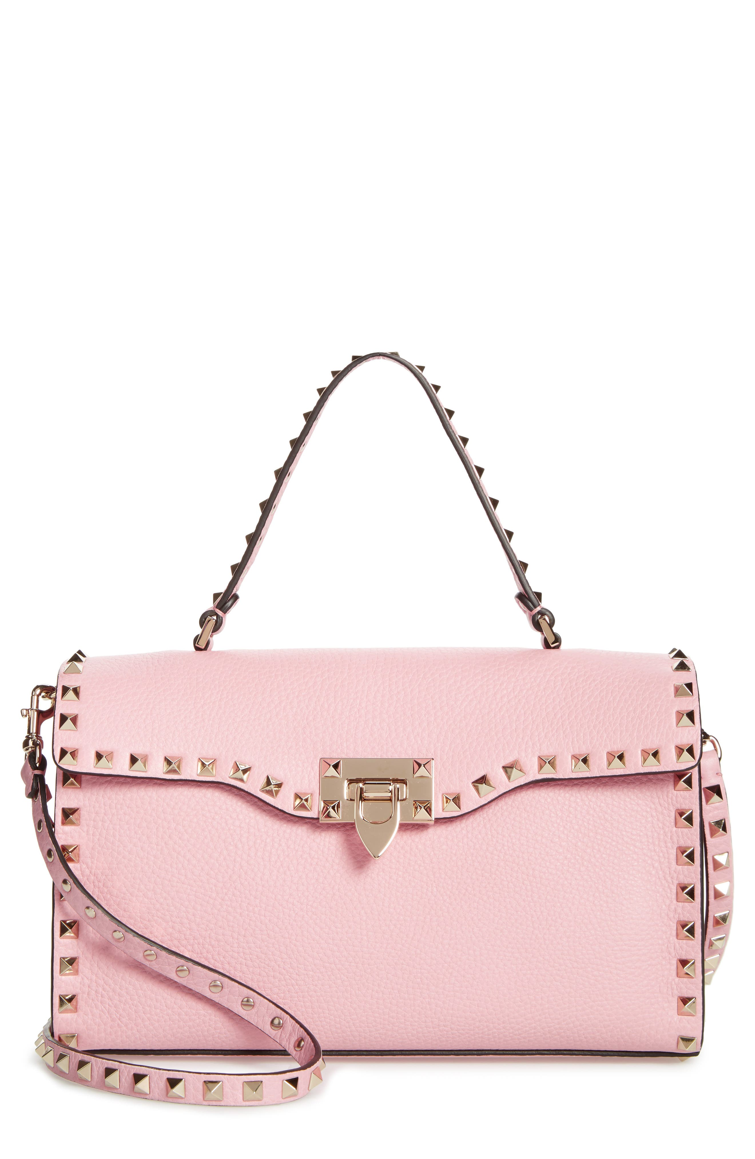 VALENTINO GARAVANI Small Rockstud Leather Single Handle Shoulder Bag