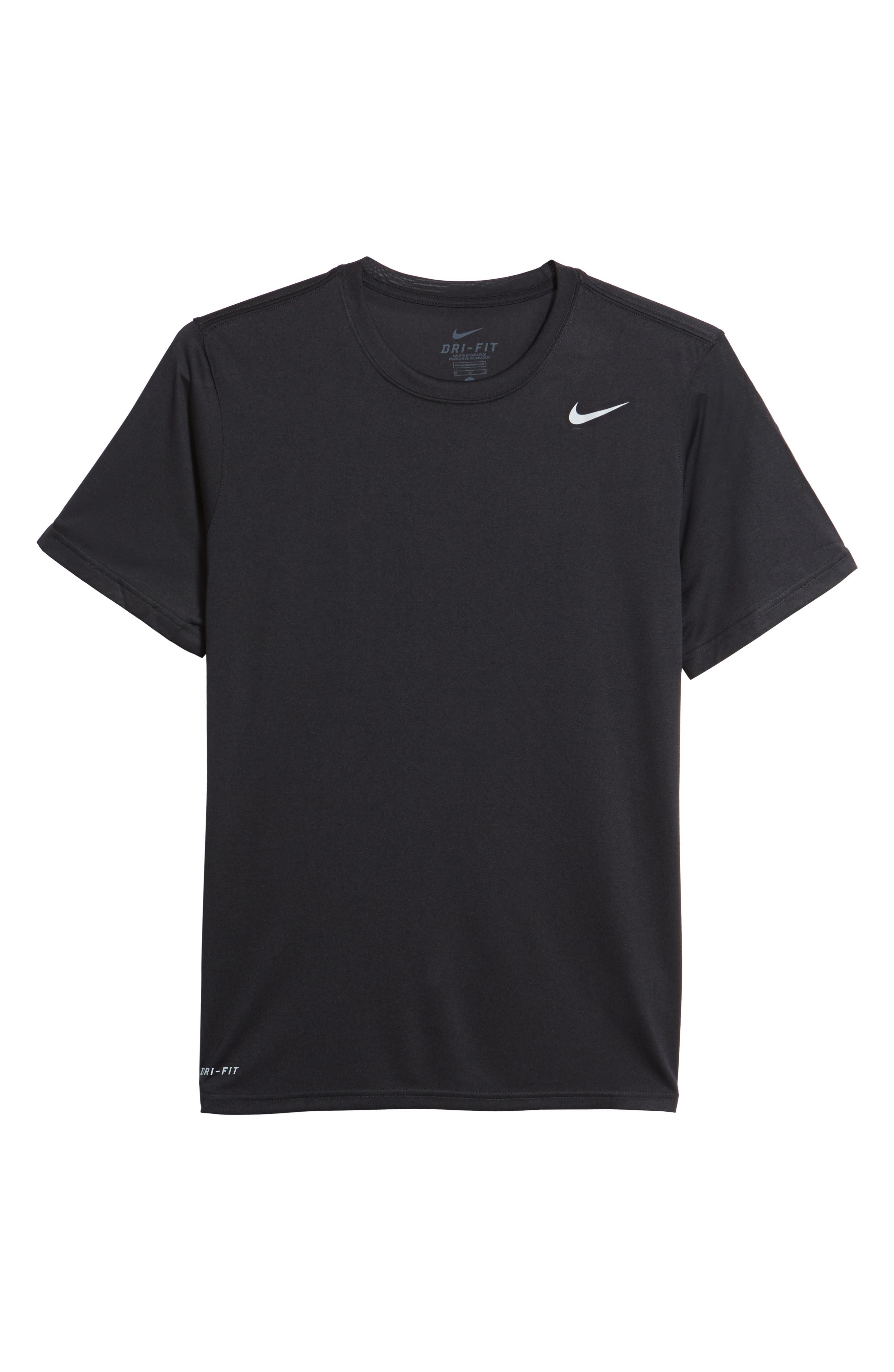 'Legend 2.0' Dri-FIT Training T-Shirt,                             Alternate thumbnail 5, color,                             Black/ Black/ Matte Silver