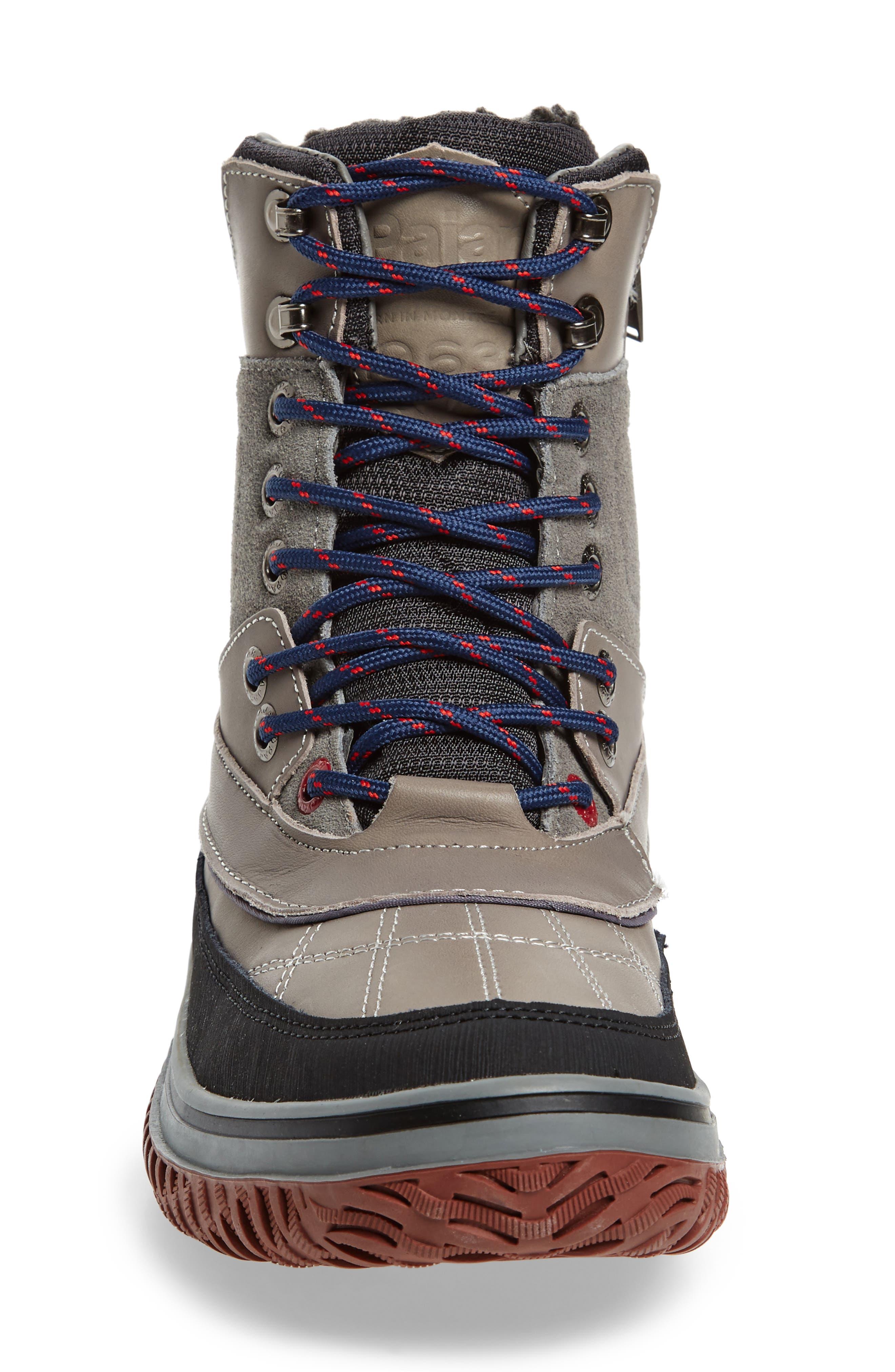 Gaspar Waterproof Winter Boot,                             Alternate thumbnail 4, color,                             Grey Leather