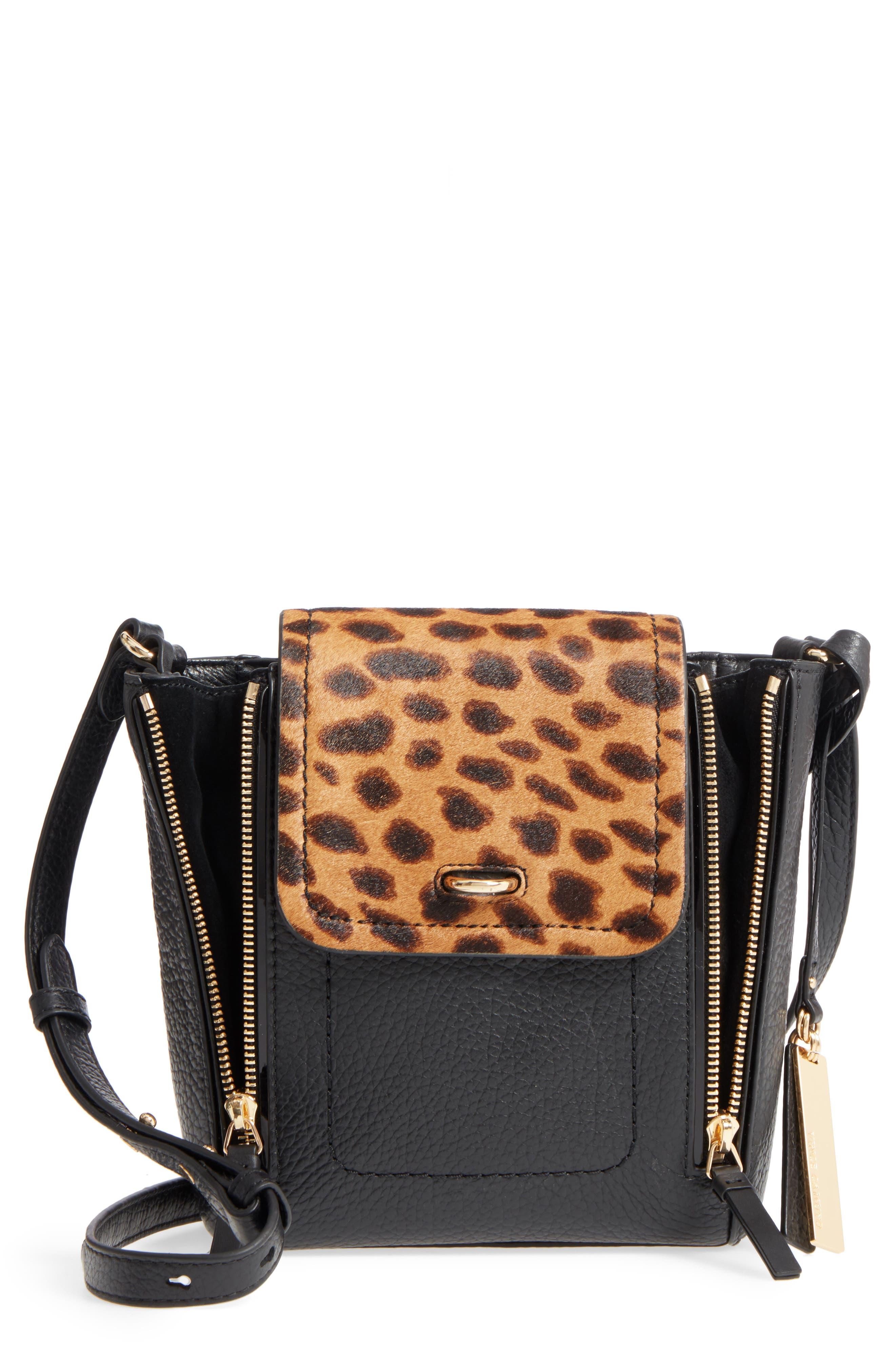 Vince Camuto Blena Genuine Calf Hair & Leather Crossbody Bag