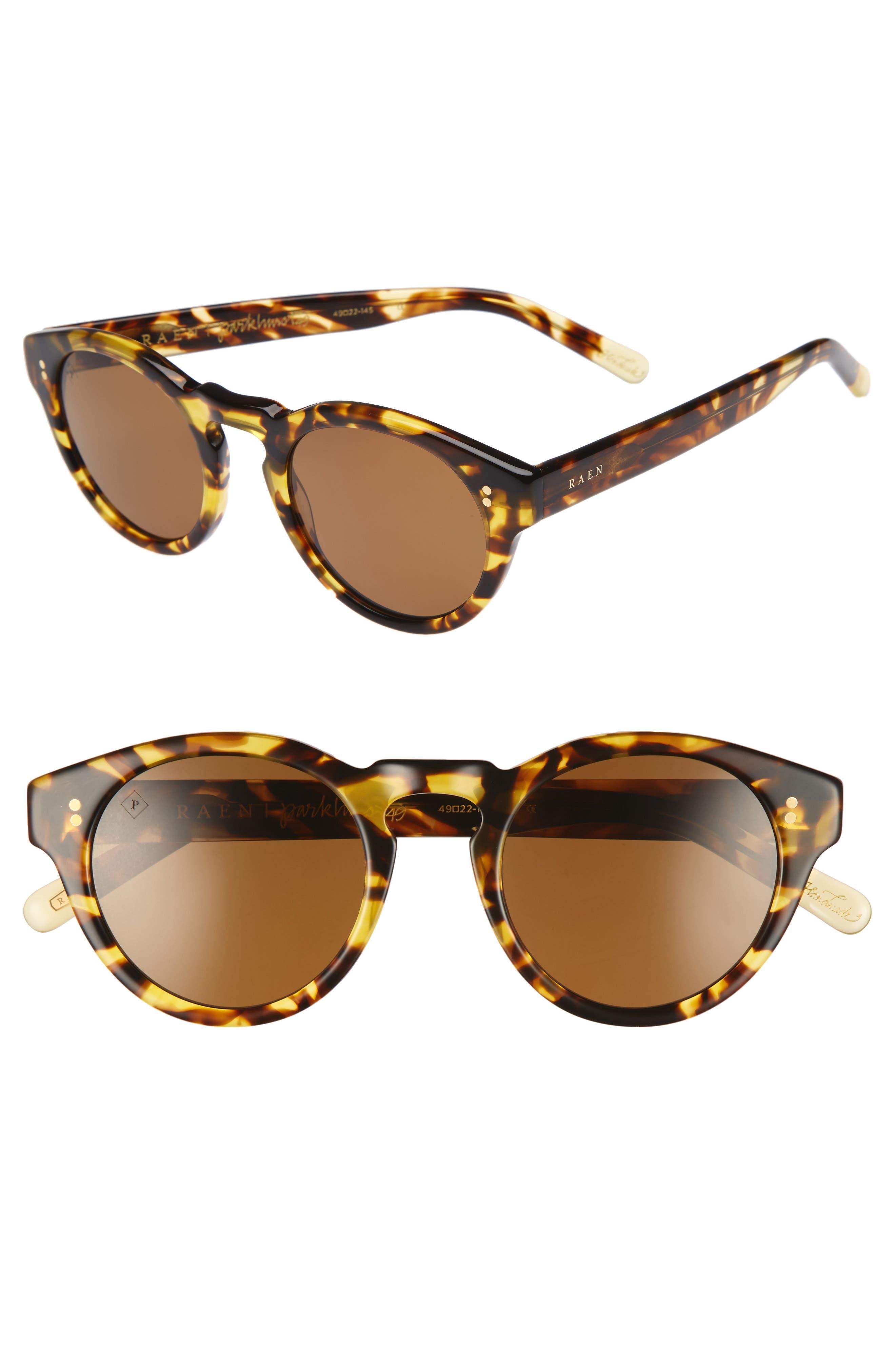 Parkhurst 49mm Sunglasses,                             Main thumbnail 1, color,                             Tokyo Tortoise/ Brown