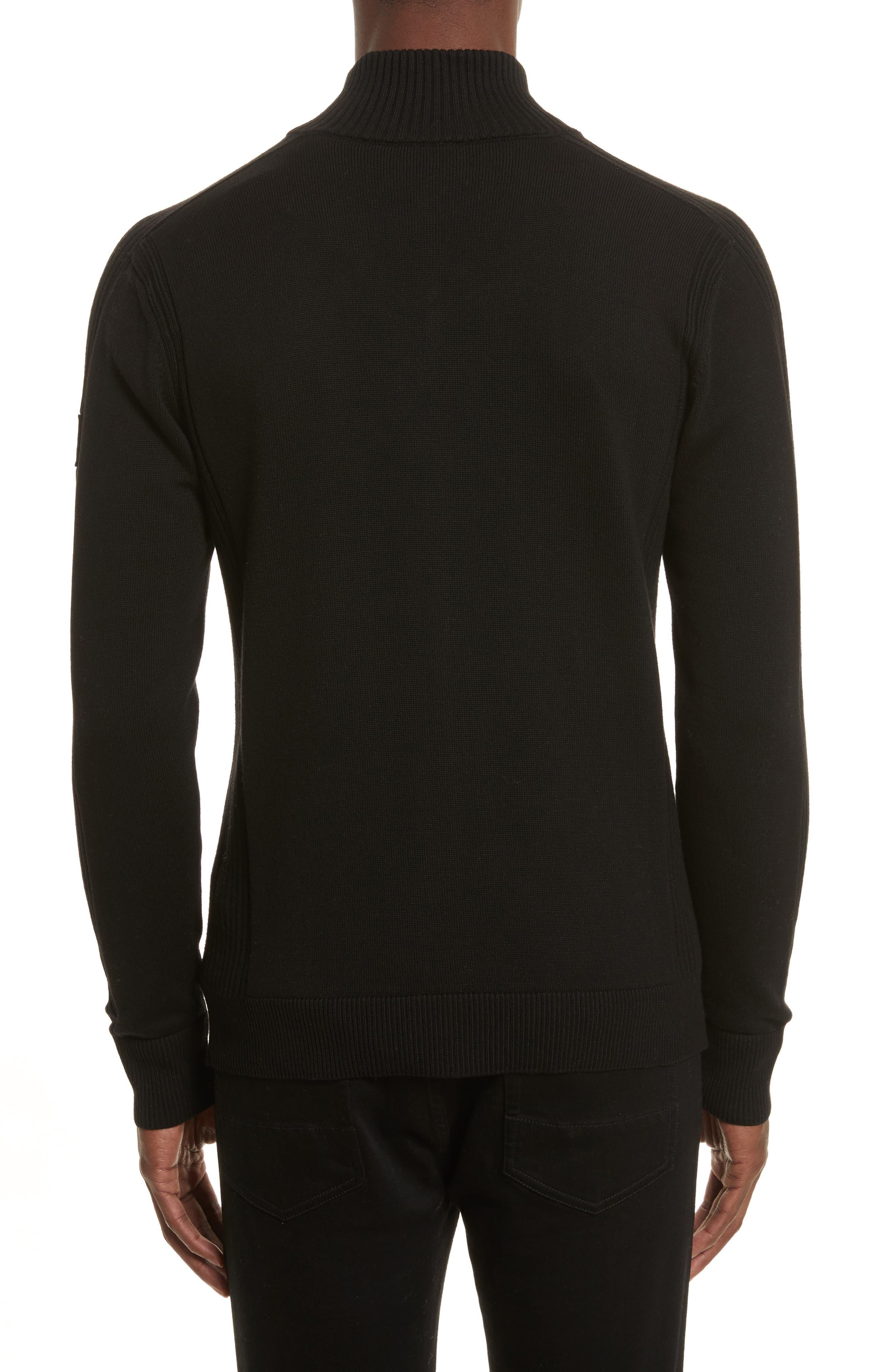 Allerford Knit Cotton Jacket,                             Alternate thumbnail 2, color,                             Black