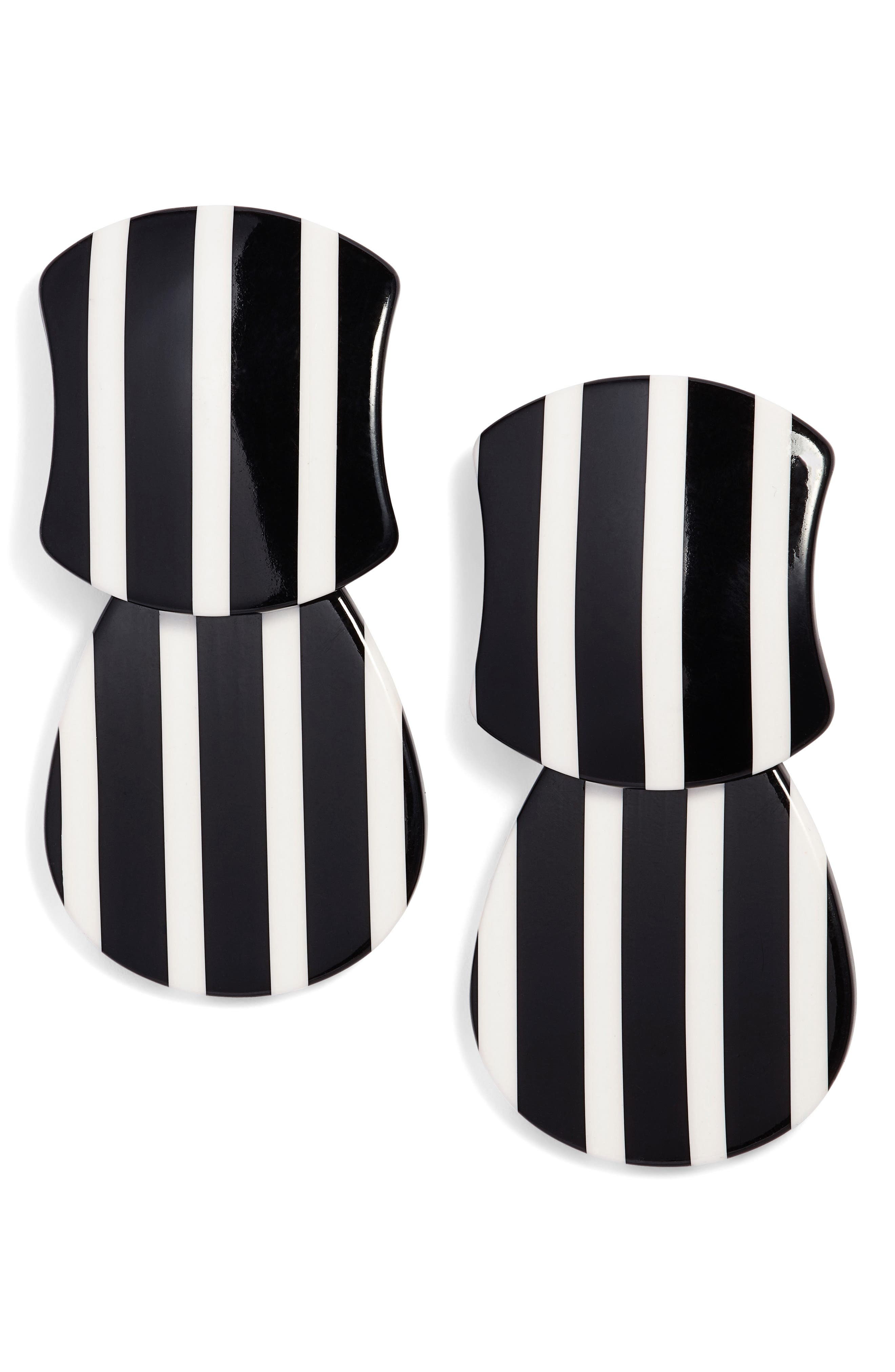 Swivel Drop Earrings,                         Main,                         color, Black And White