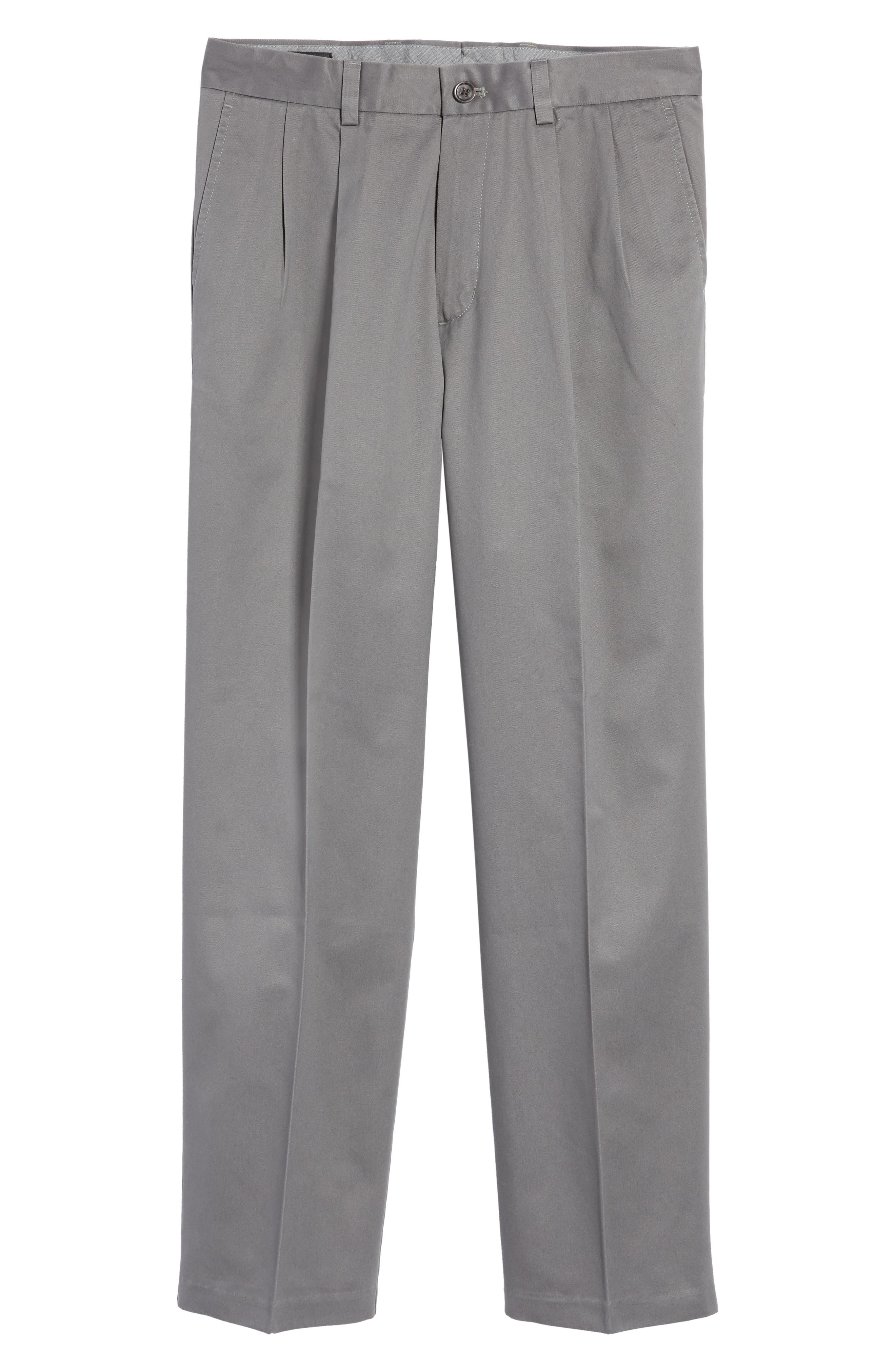 'Classic' Smartcare<sup>™</sup> Relaxed Fit Double Pleated Cotton Pants,                             Alternate thumbnail 2, color,                             Grey Tornado