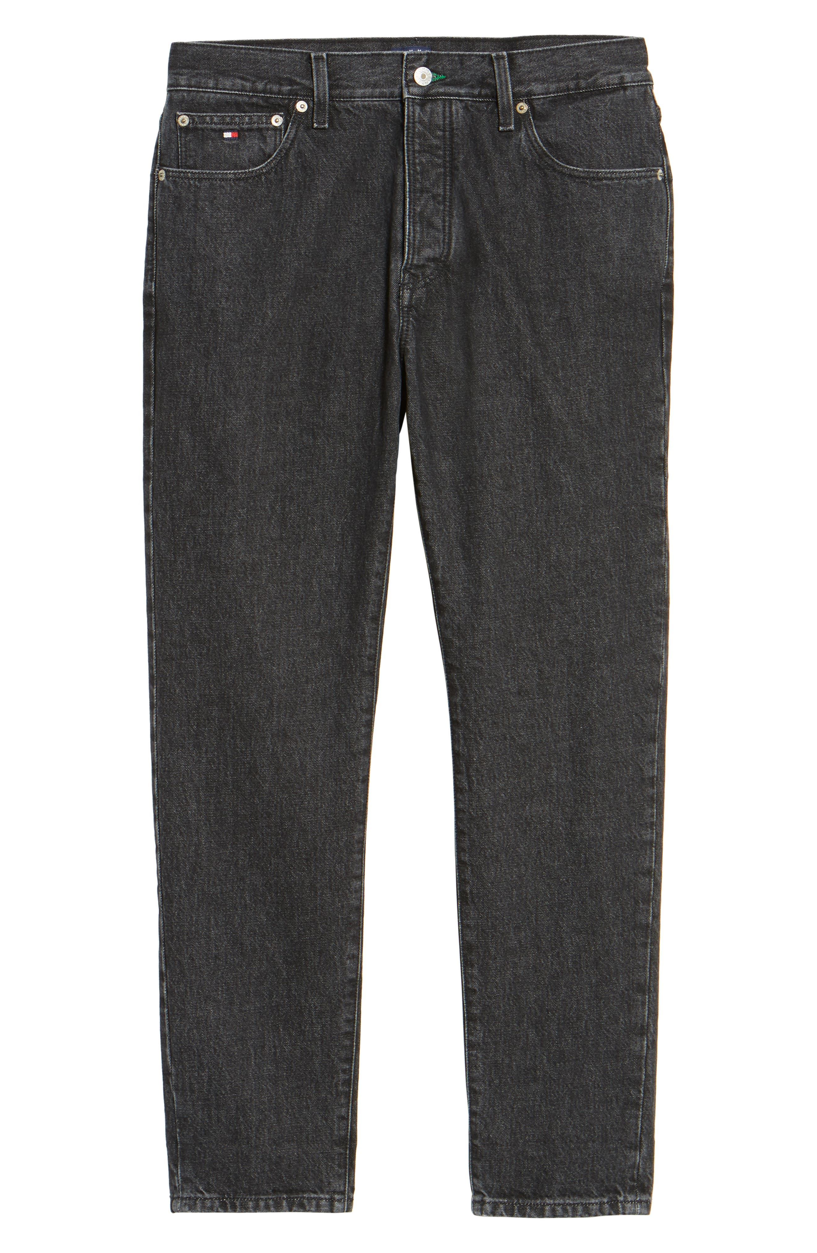Alternate Image 6  - Tommy Hilfiger 90s Classic Straight Leg Jeans (Black)