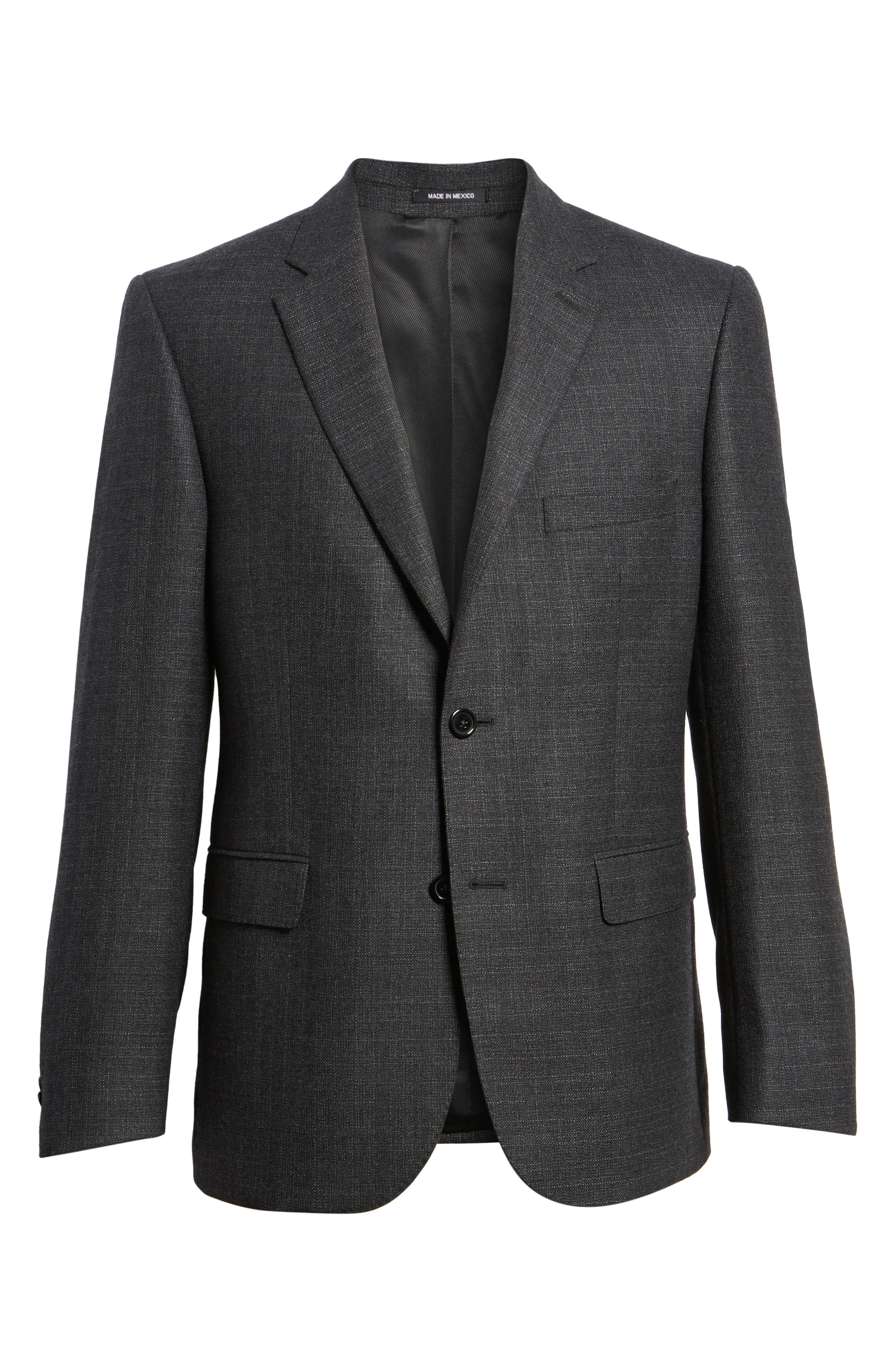 Classic Fit Wool Blazer,                             Alternate thumbnail 6, color,                             Charcoal