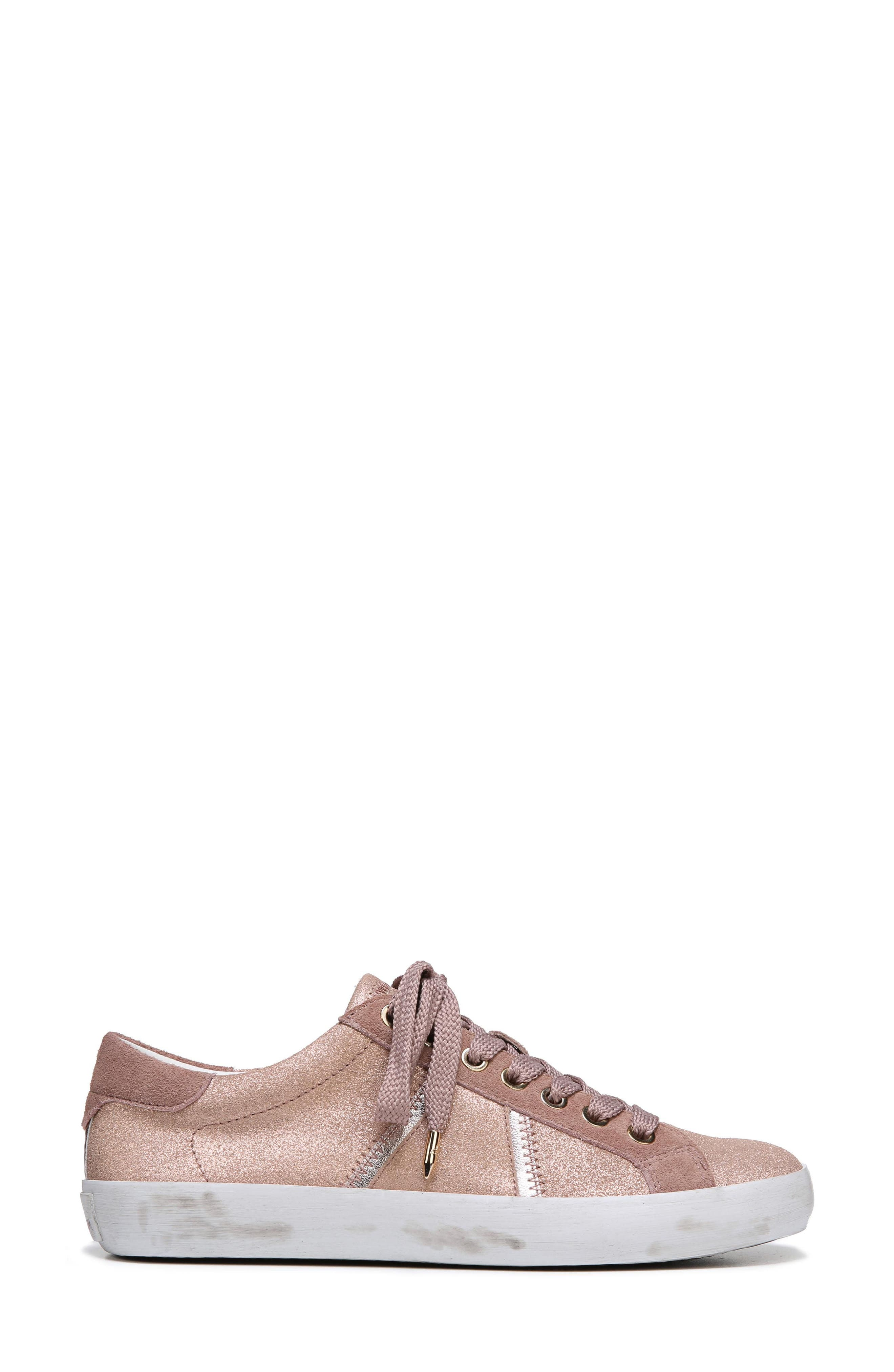 Baylee Sneaker,                             Alternate thumbnail 3, color,                             Blush Suede
