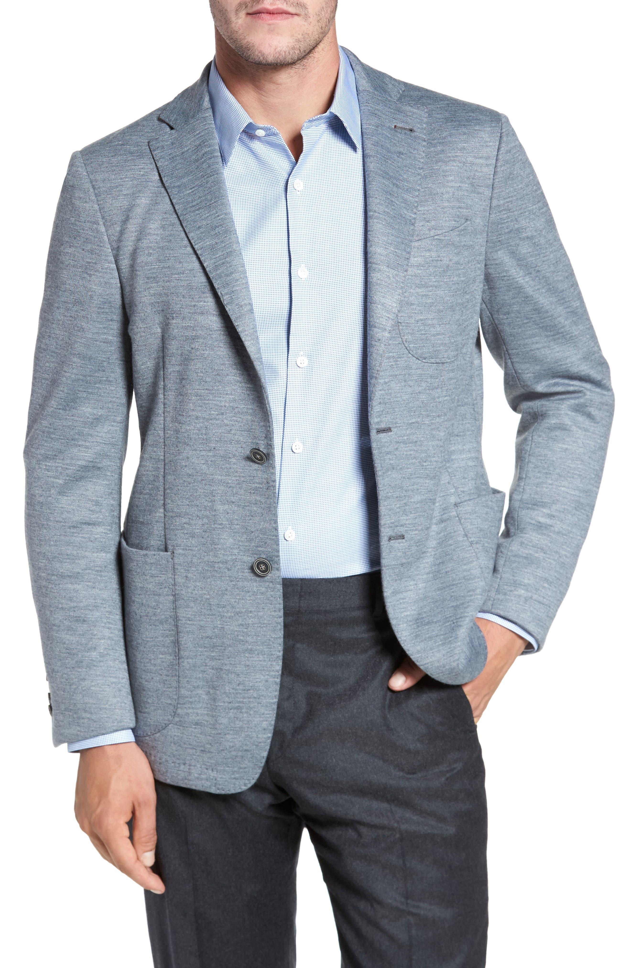 Main Image - Bugatchi Jersey Blazer