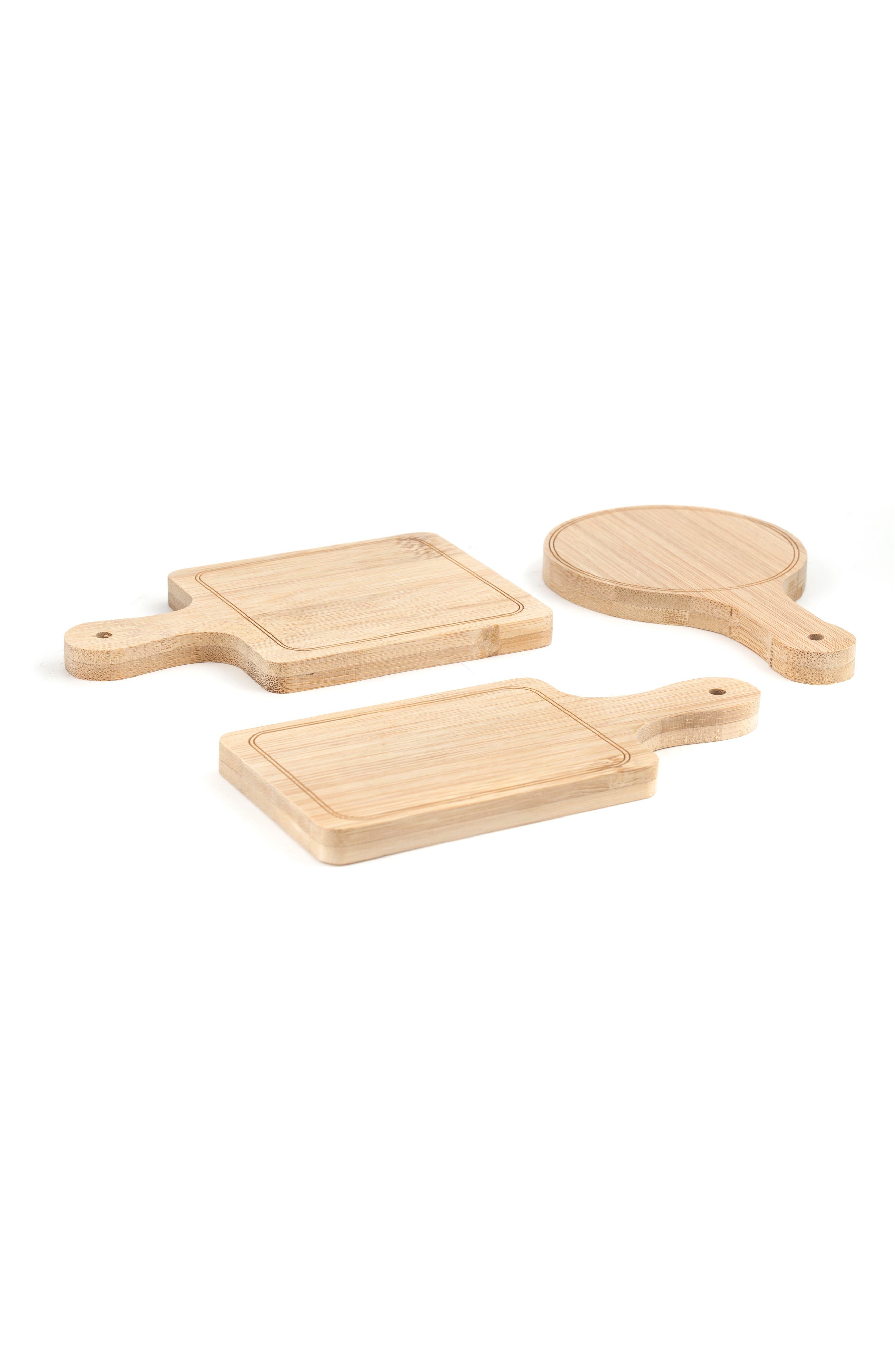 Set of 6 Mini Serving Trays,                         Main,                         color, Wood