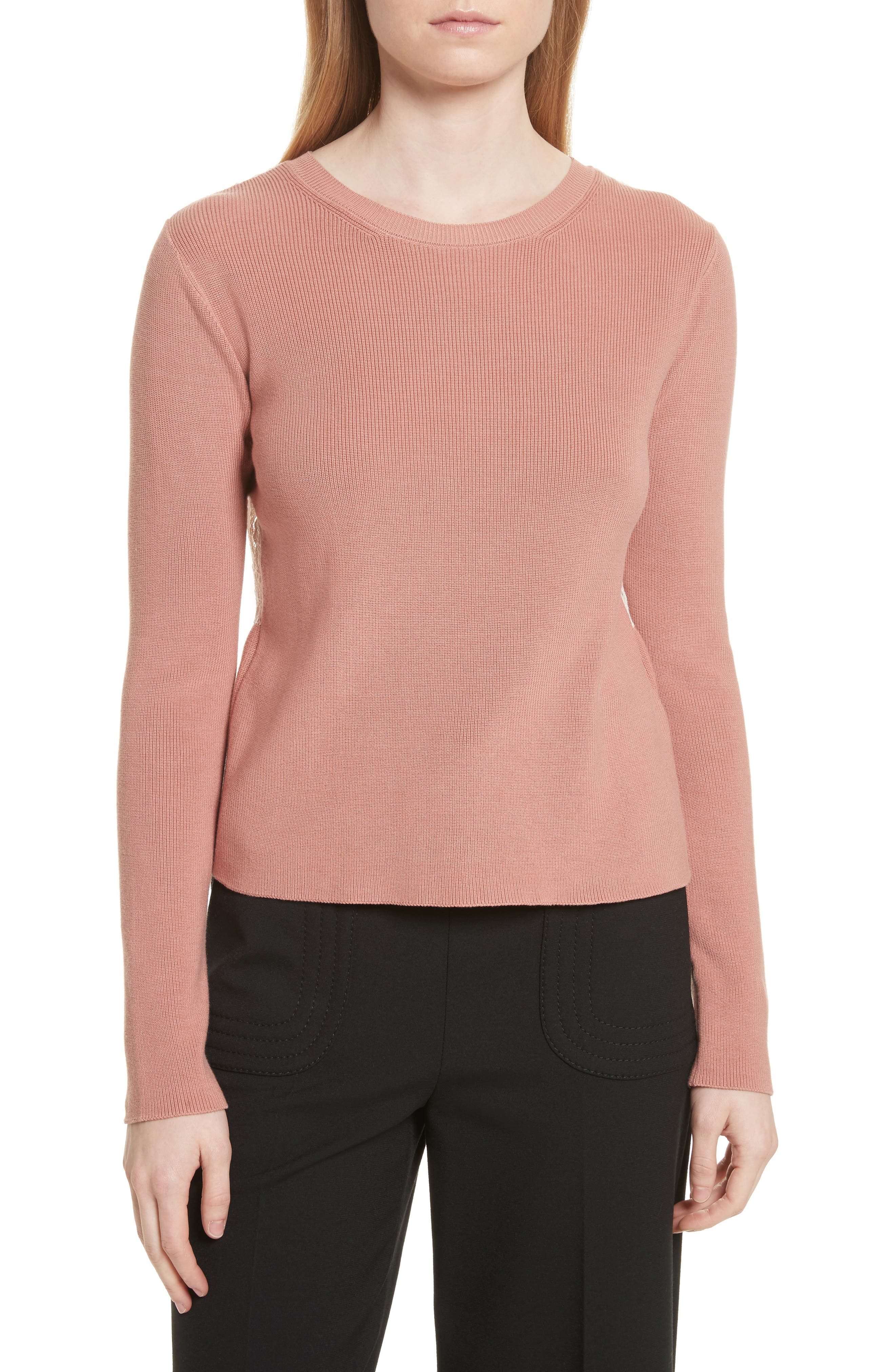 Main Image - RED Valentino Lace Back Sweater