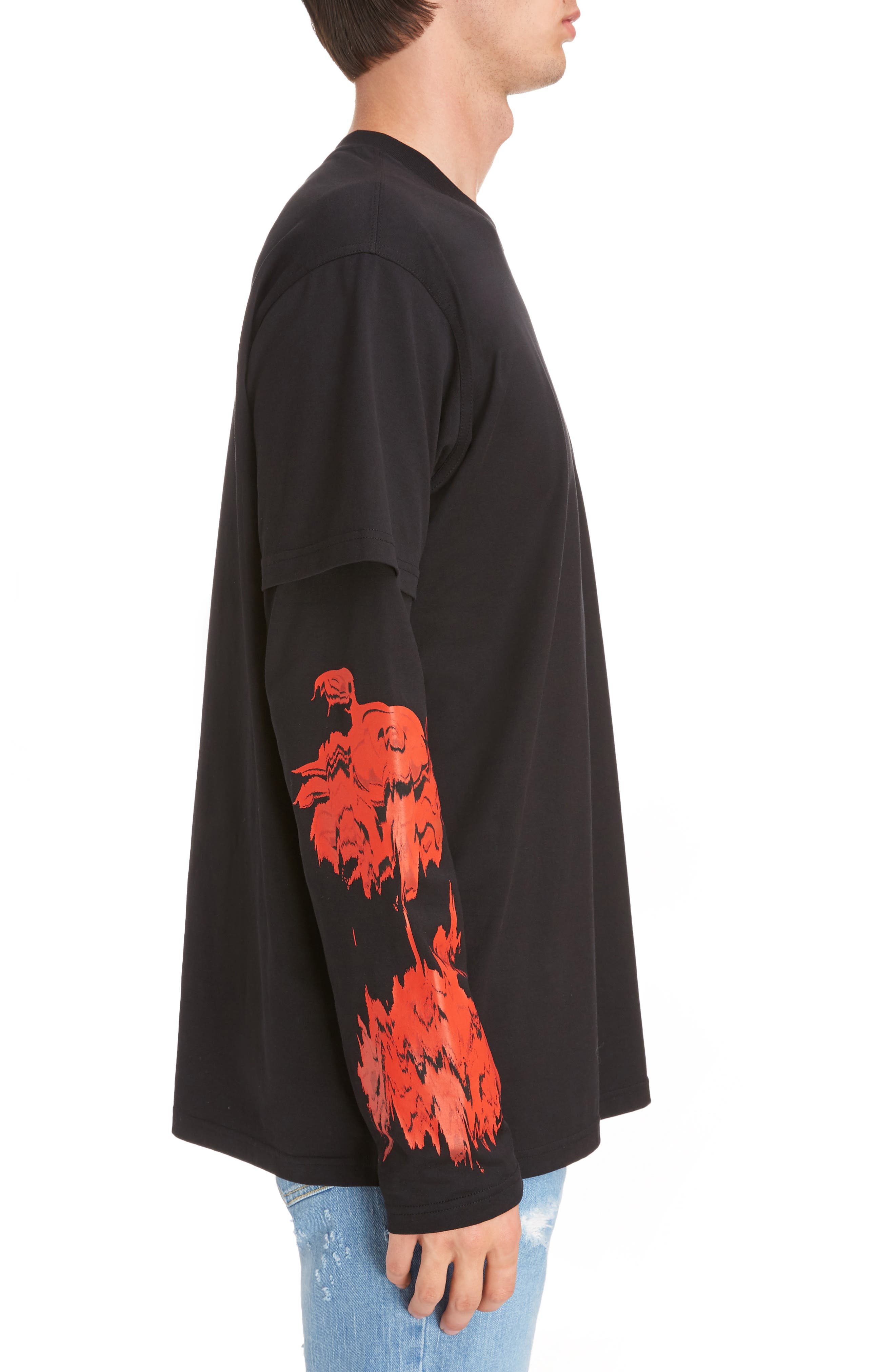Alternate Image 3  - Givenchy Rose Print Long Sleeve T-Shirt