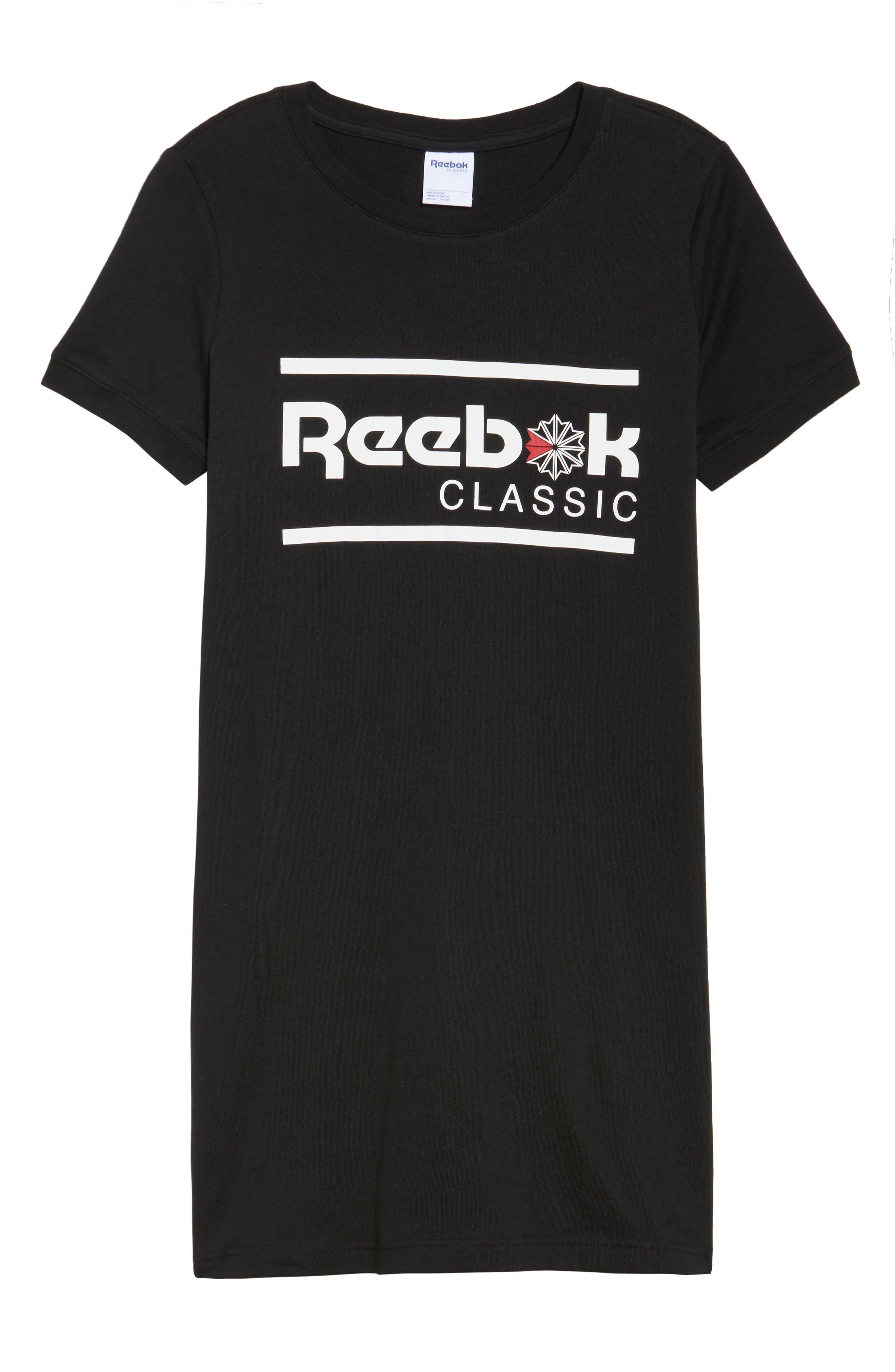 Classics T-Shirt Dress,                             Alternate thumbnail 7, color,                             Black