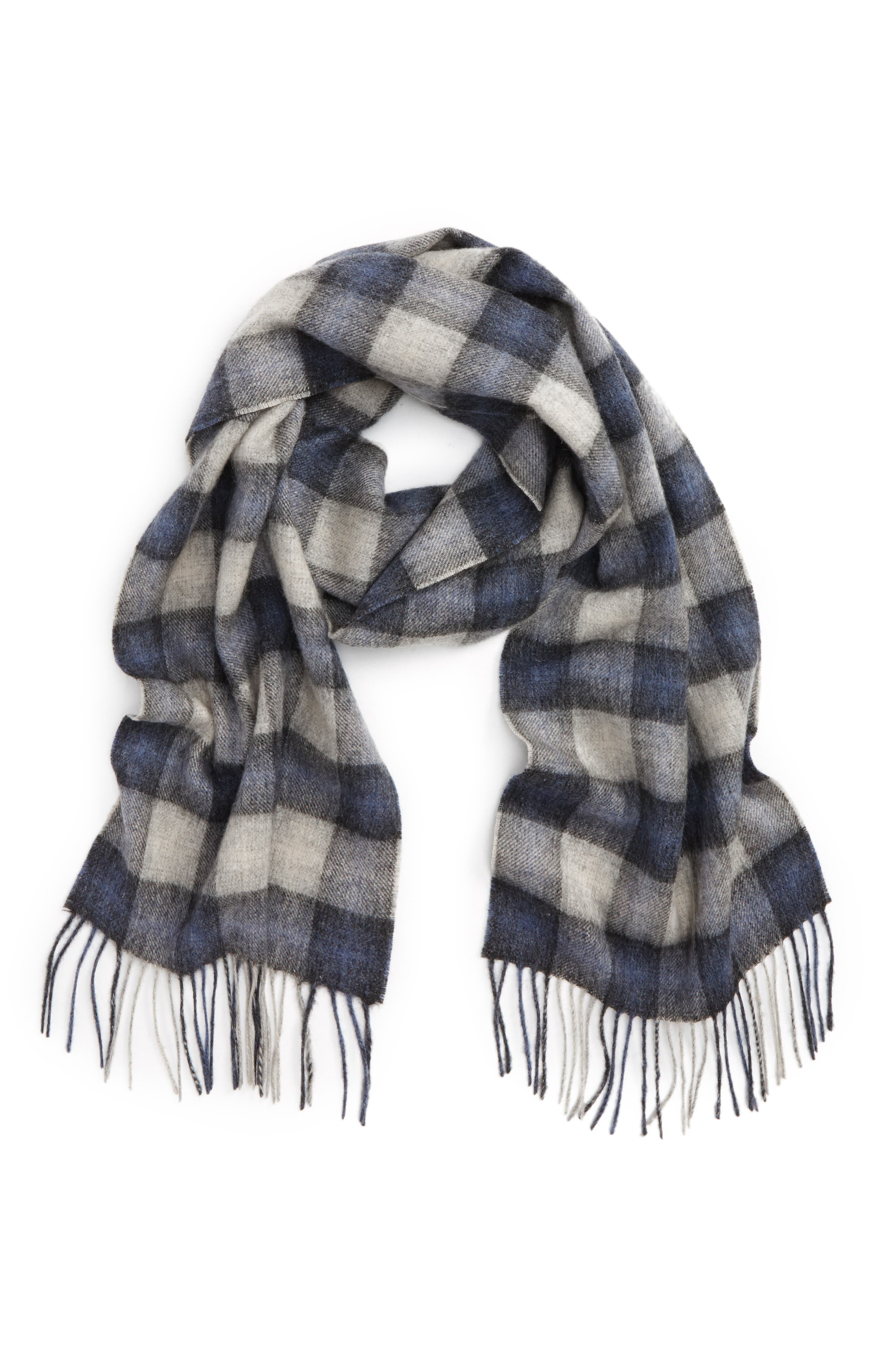 Barbour Gowan Check Wool & Cashmere Scarf