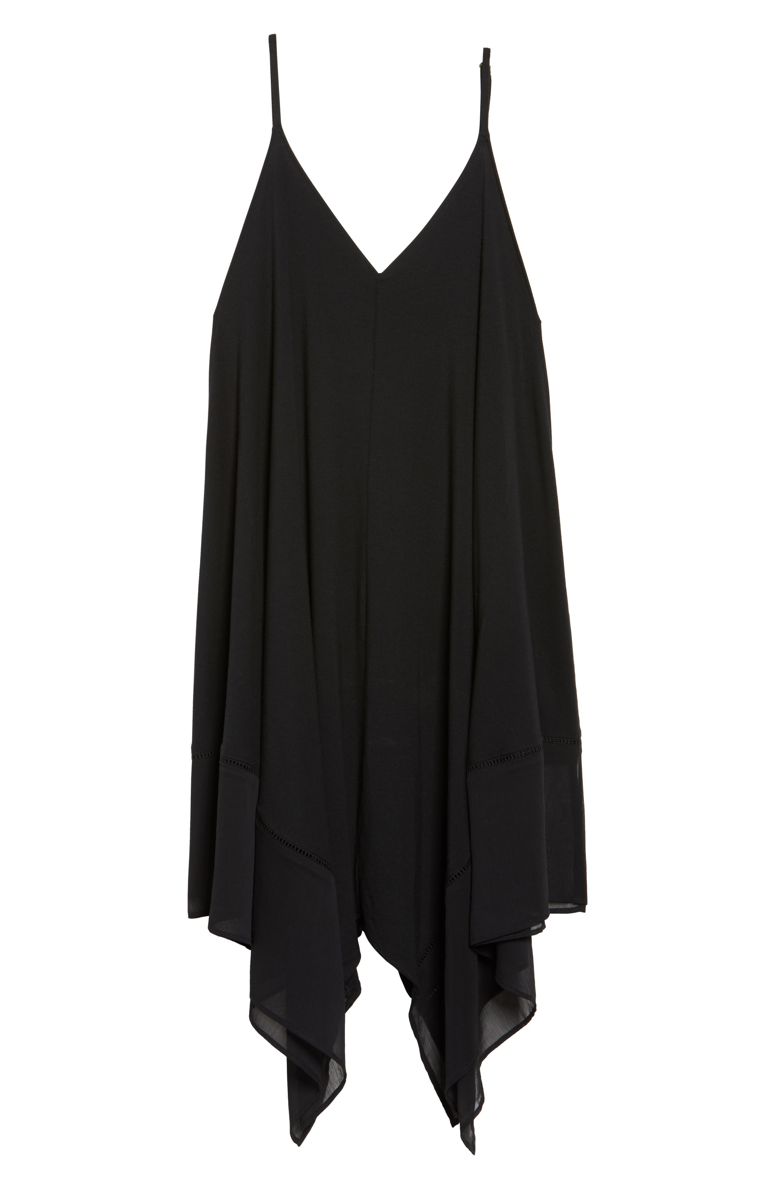 Cover-Up Scarf Dress,                             Alternate thumbnail 6, color,                             Black