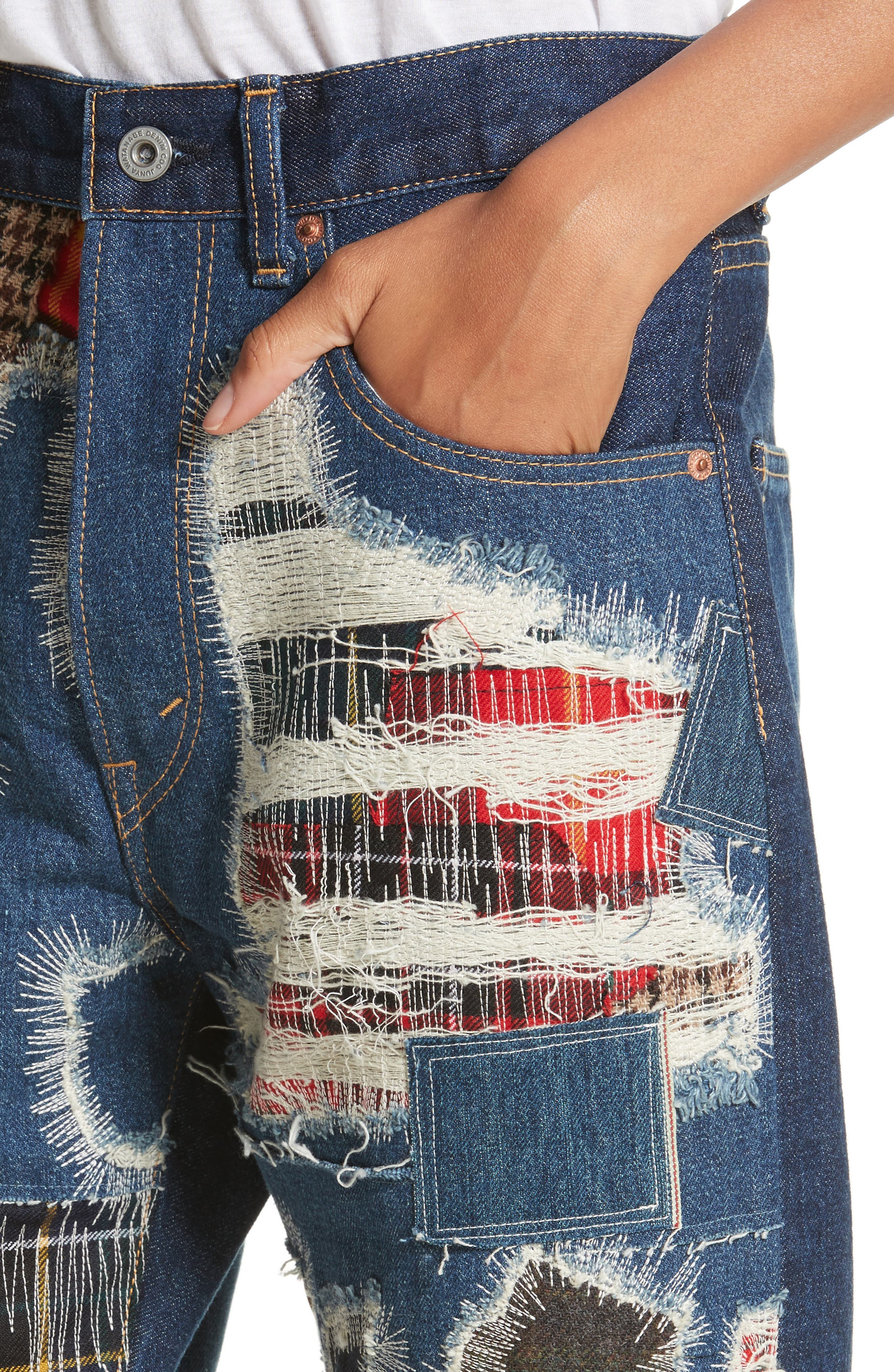 Alternate Image 4  - Junya Watanabe Distressed Patch Jeans