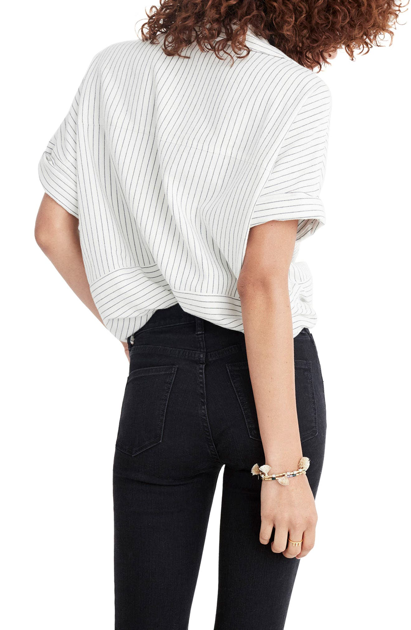 Alternate Image 3  - Madewell 9-Inch Button High Waist Ankle Skinny Jeans (Berkeley Wash)