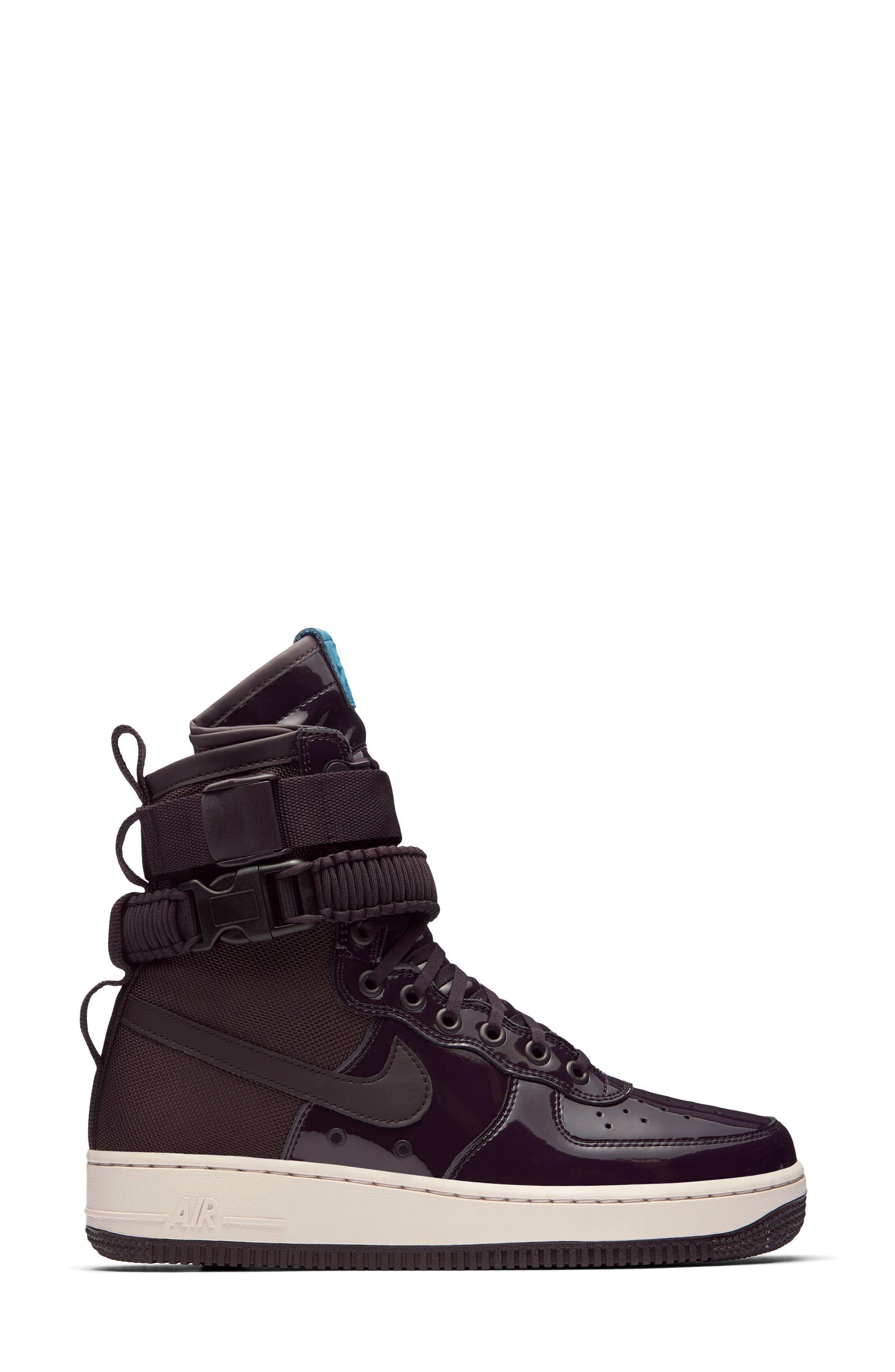 SF Air Force 1 High Top Sneaker,                             Alternate thumbnail 5, color,                             Port Wine/ Port Wine