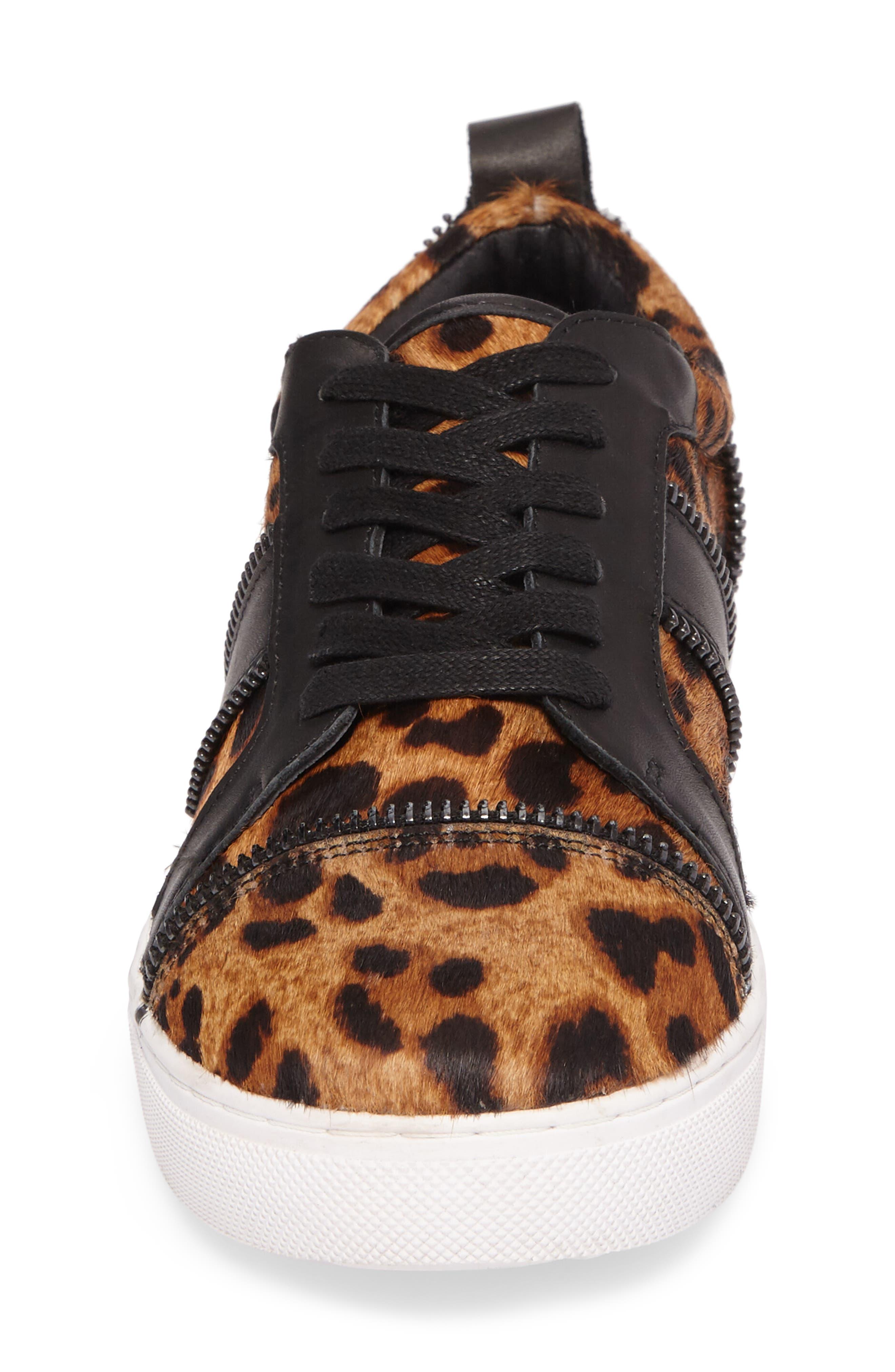 Harvey Genuine Calf Hair Sneaker,                             Alternate thumbnail 4, color,                             Leopard Calf Hair