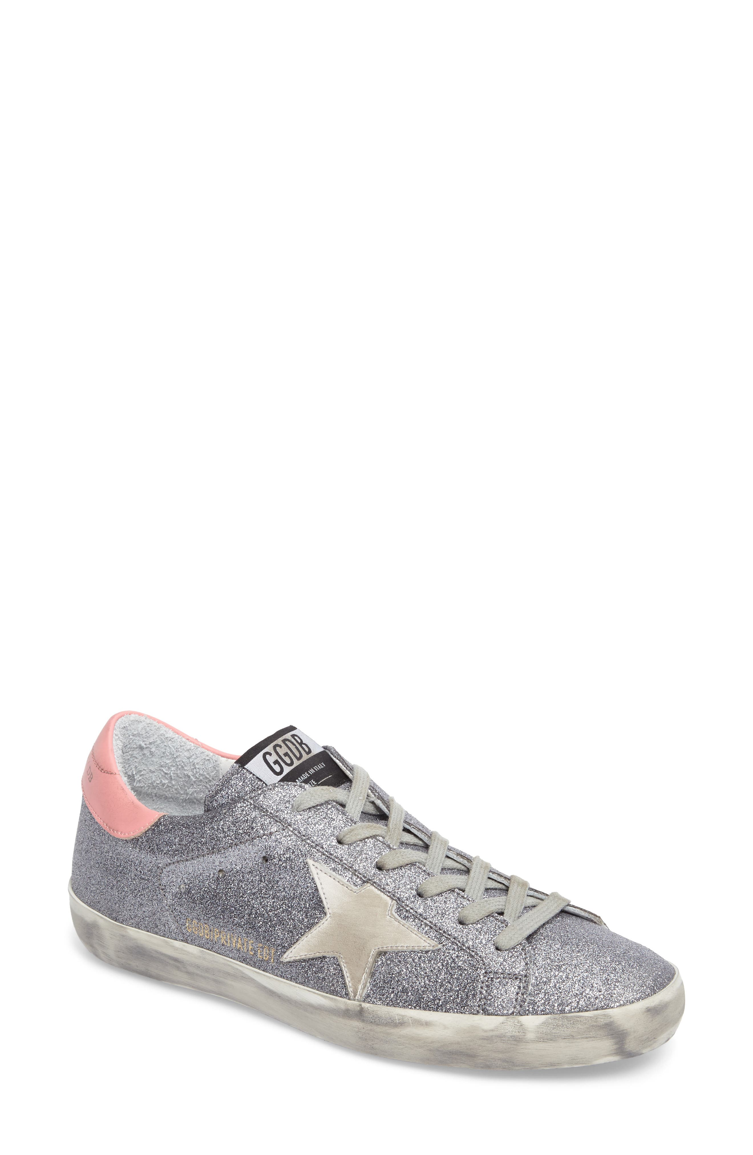 Superstar Low Top Sneaker,                             Main thumbnail 1, color,                             Gunmetal/ White