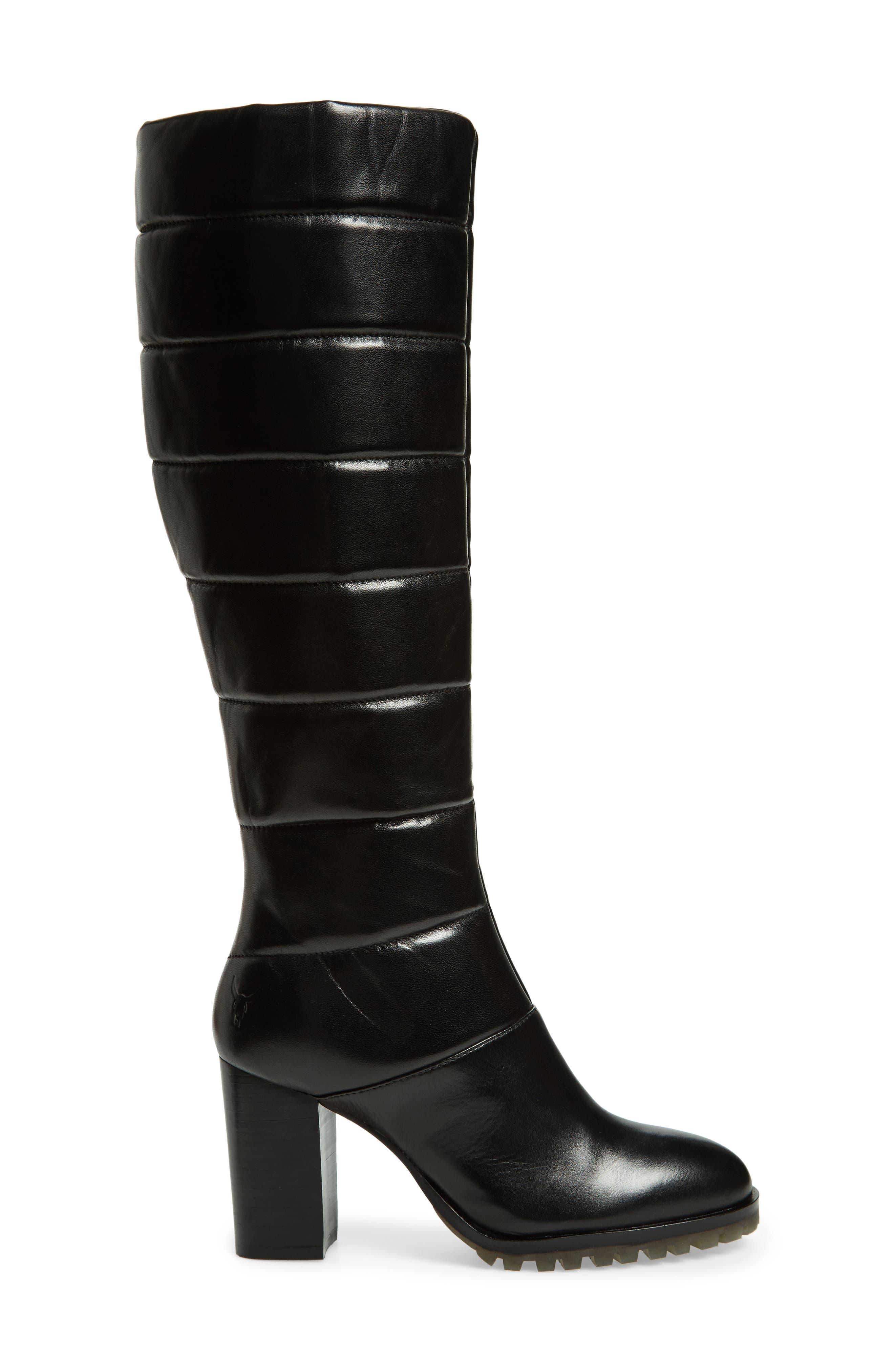 Tropia Knee High Boot,                             Alternate thumbnail 3, color,                             Black Leather