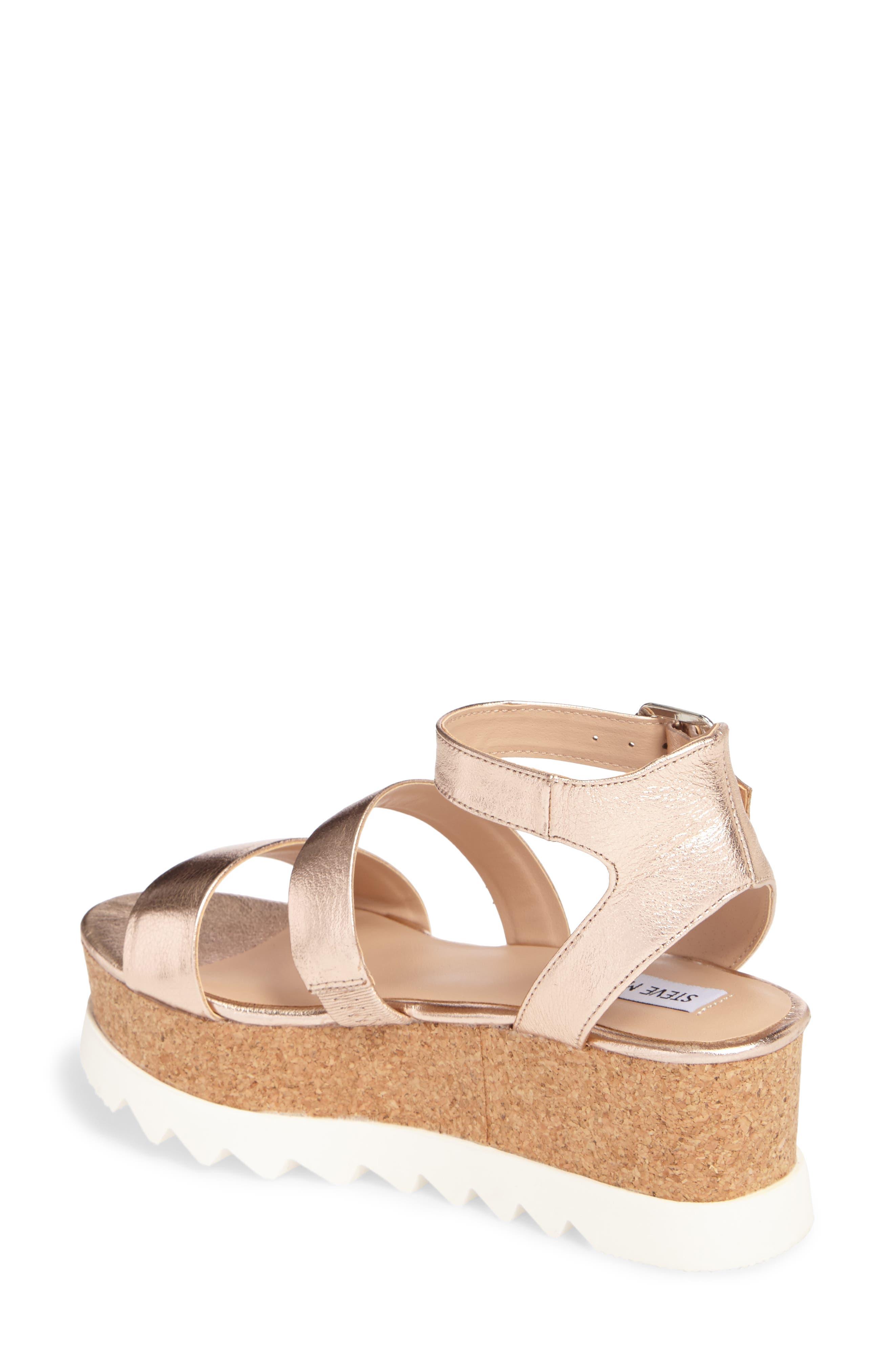 Kirsten Layered Platform Sandal,                             Alternate thumbnail 2, color,                             Rose Leather