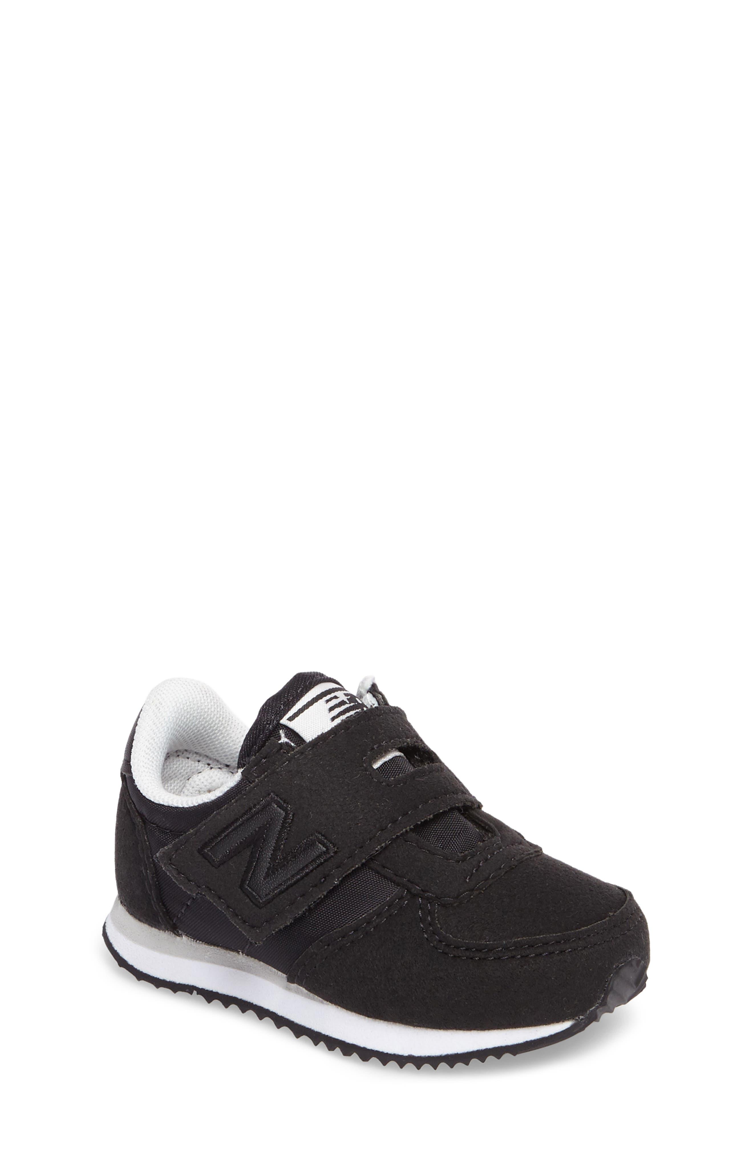 220 Hook and Loop Sneaker,                             Main thumbnail 1, color,                             Black