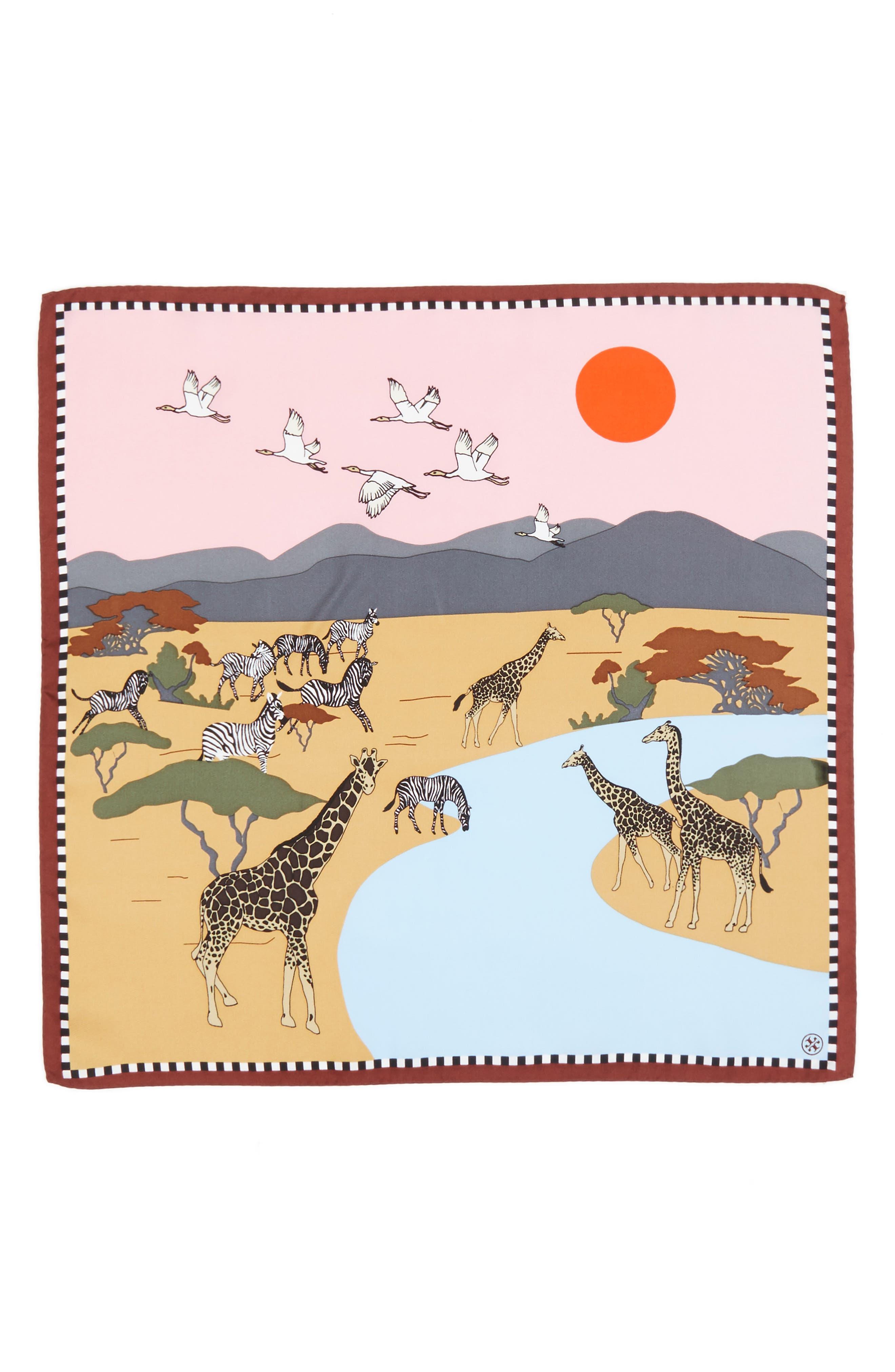 Alternate Image 2  - Tory Burch Safari Silk Neckerchief