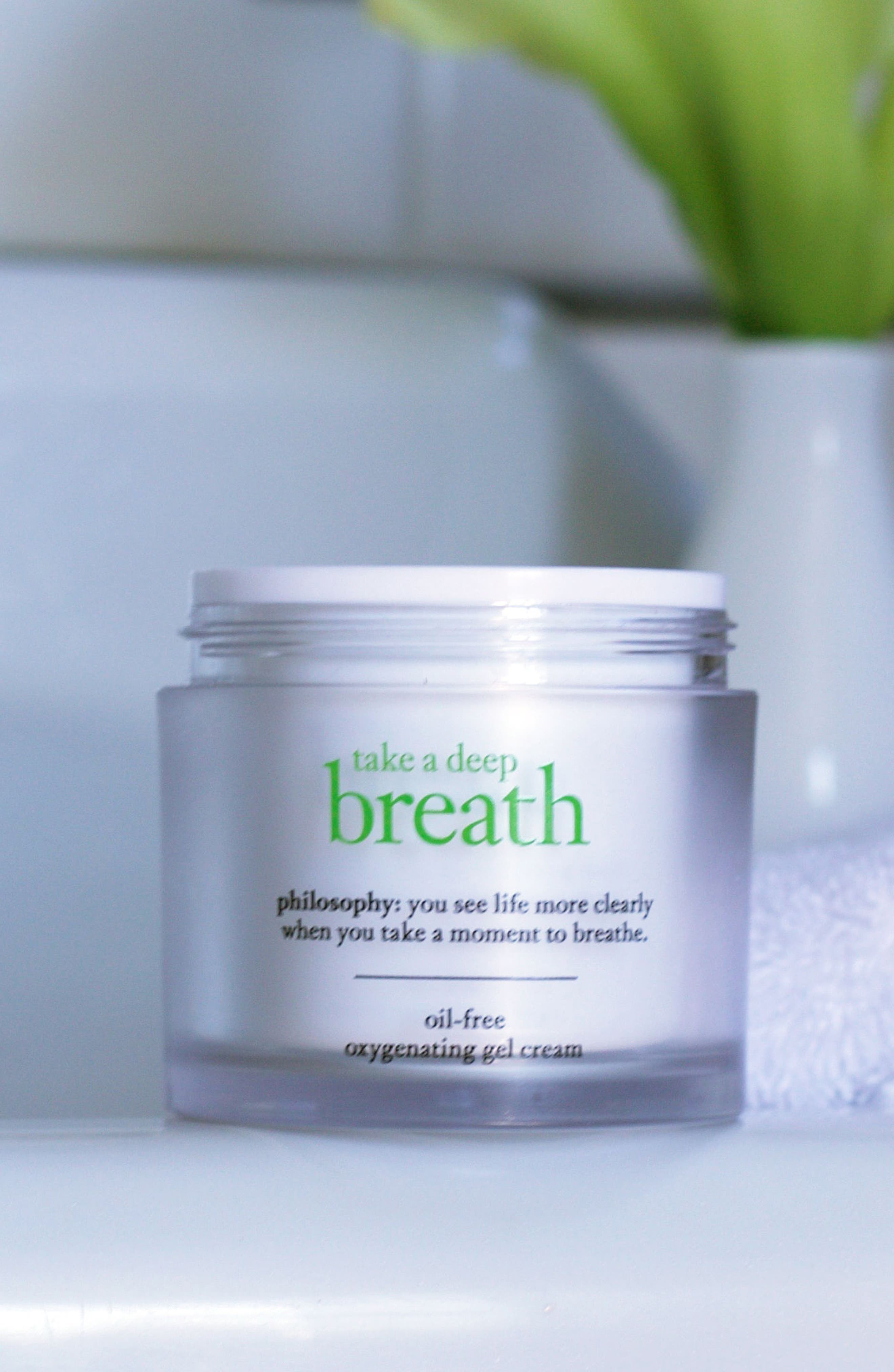 take a deep breath oil-free oxygenating gel cream,                             Alternate thumbnail 4, color,                             No Color