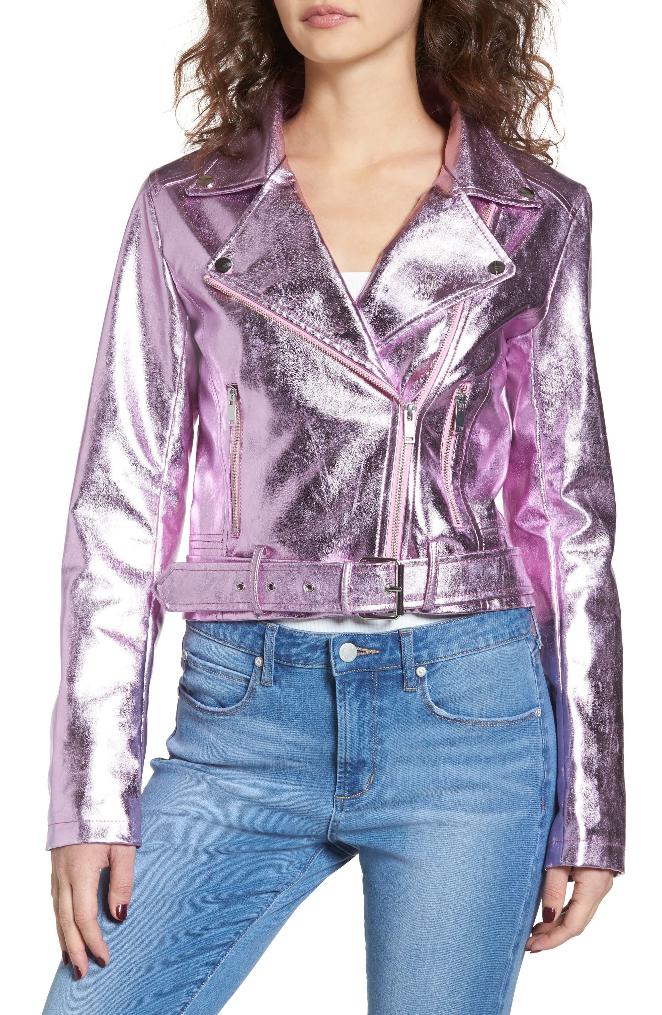Grant Metallic Jacket,                             Alternate thumbnail 4, color,                             Candy