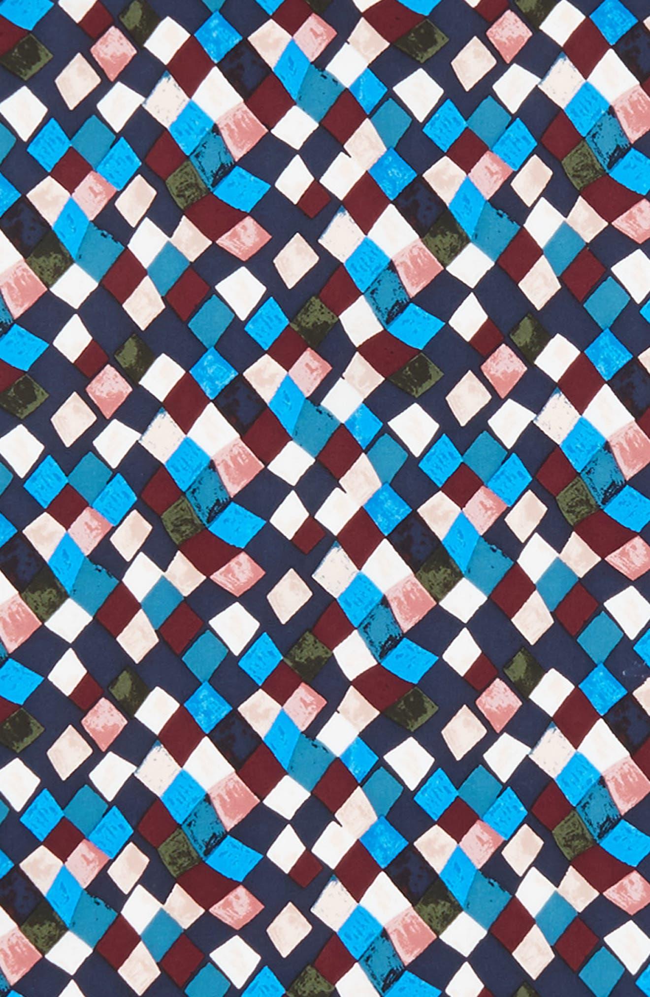Prism Print Silk Neckerchief,                             Alternate thumbnail 4, color,                             Navy Prism