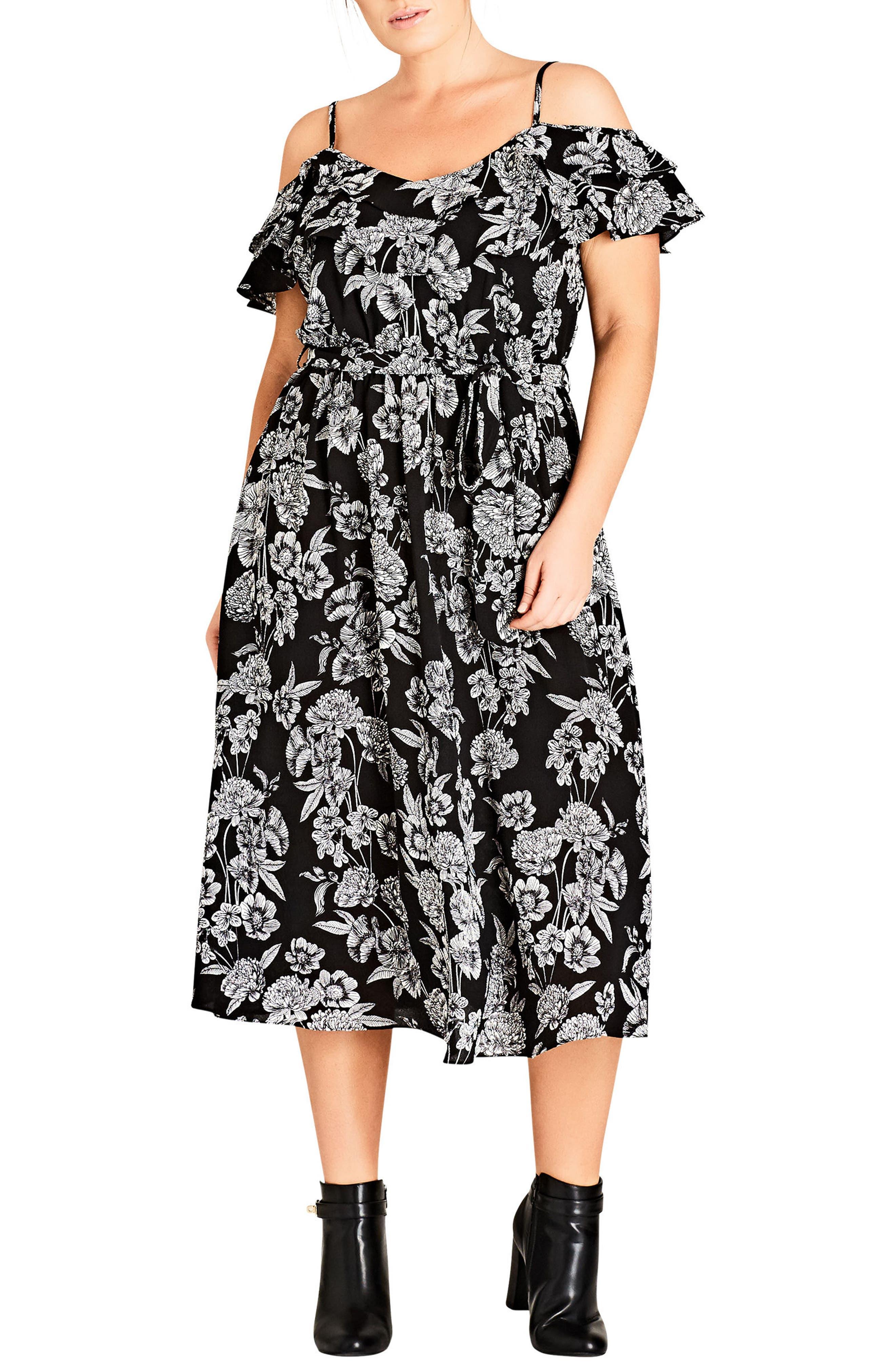 Main Image - City Chic Bloomsbury Midi Dress (Plus Size)