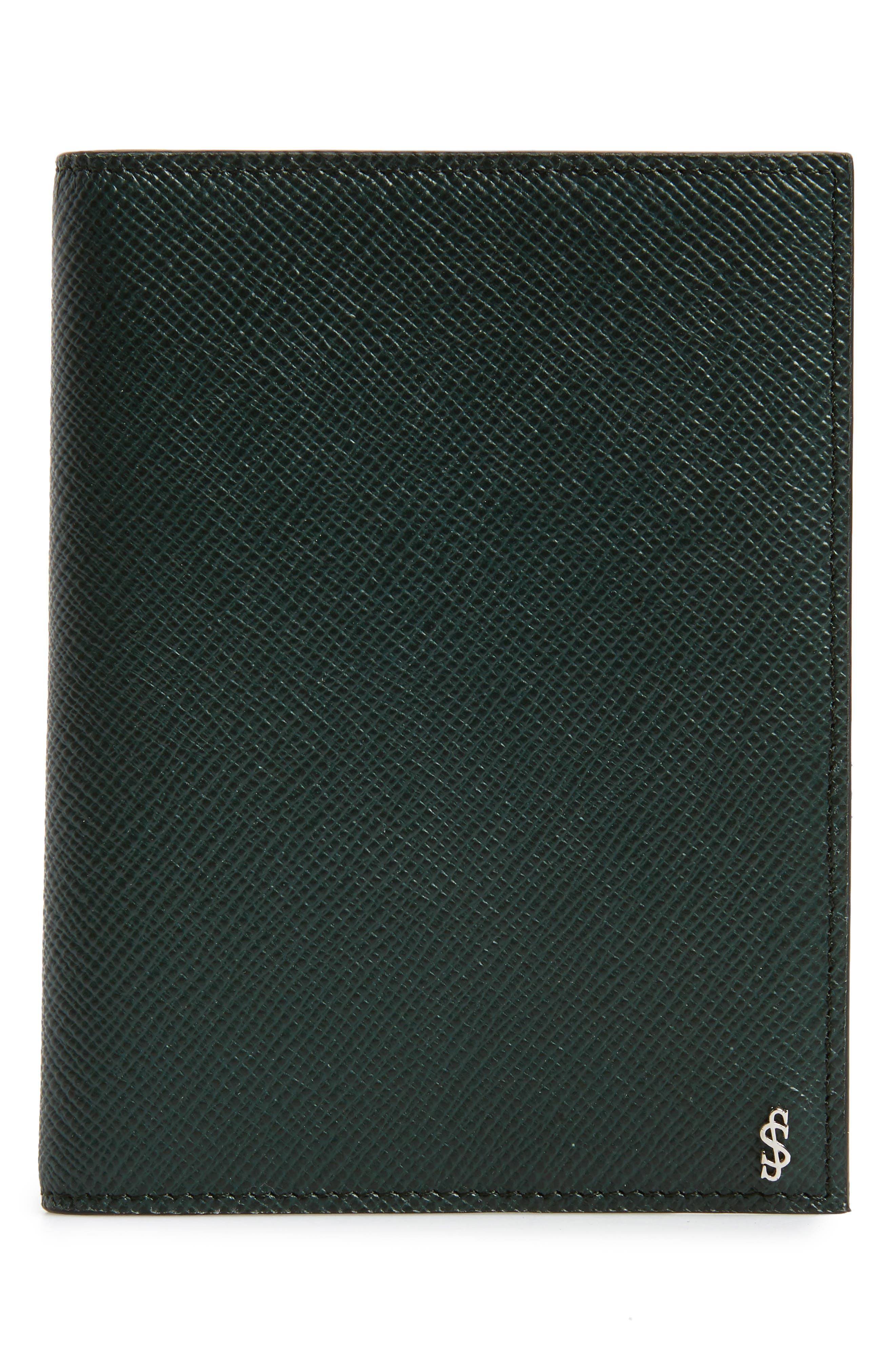 Evolution Leather Passport Case,                             Main thumbnail 1, color,                             Forest Green