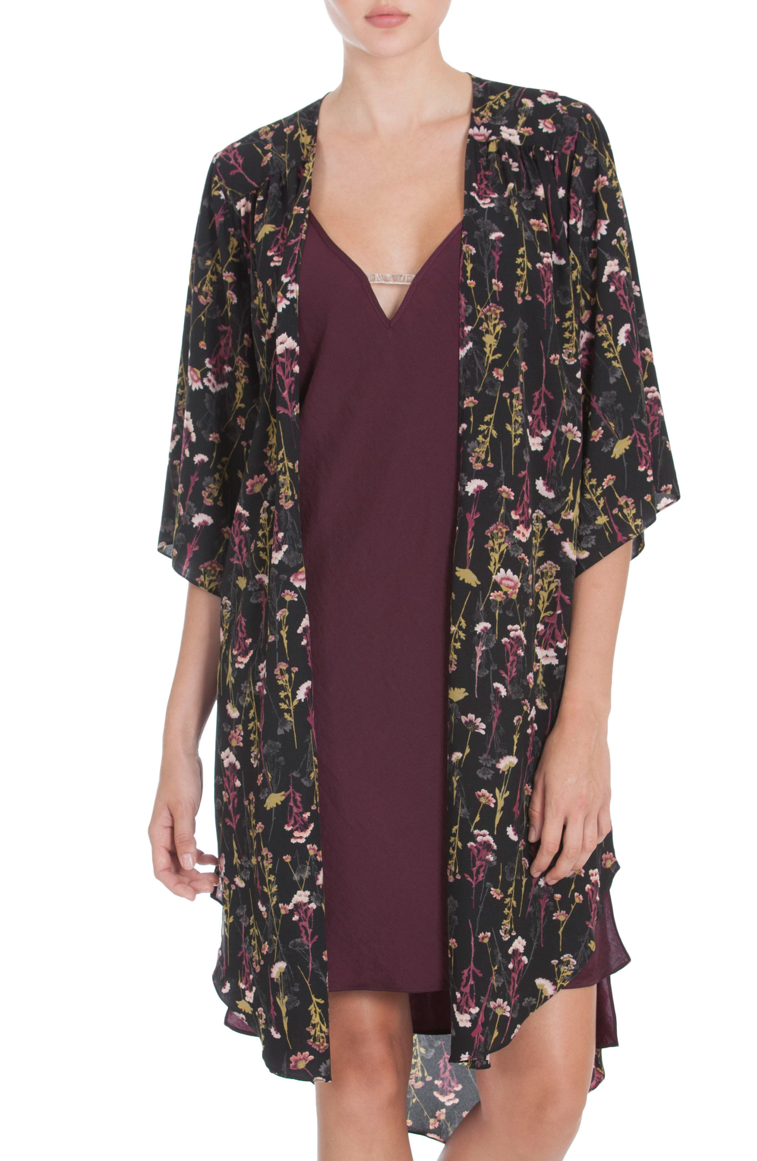 Midnight Bakery Floral Print Duster