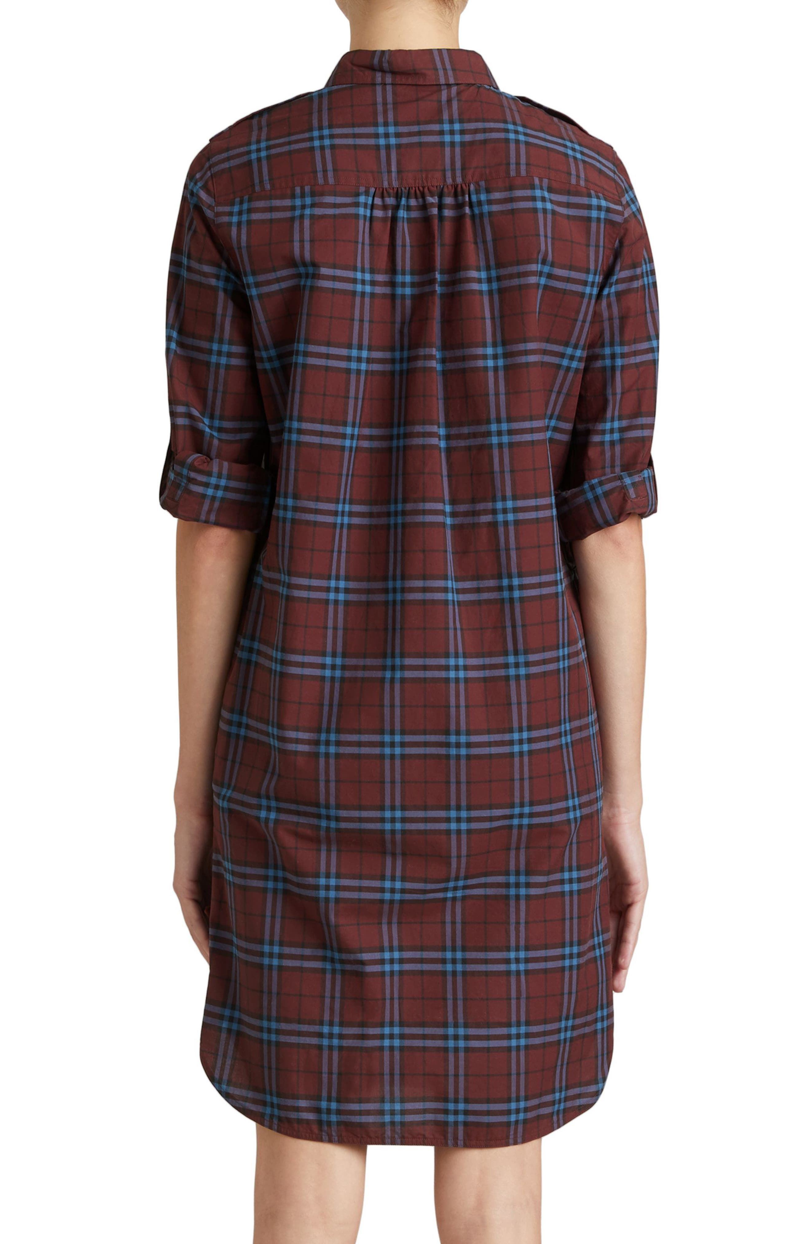 Alternate Image 2  - Burberry Kelsy Cotton Check Shirtdress