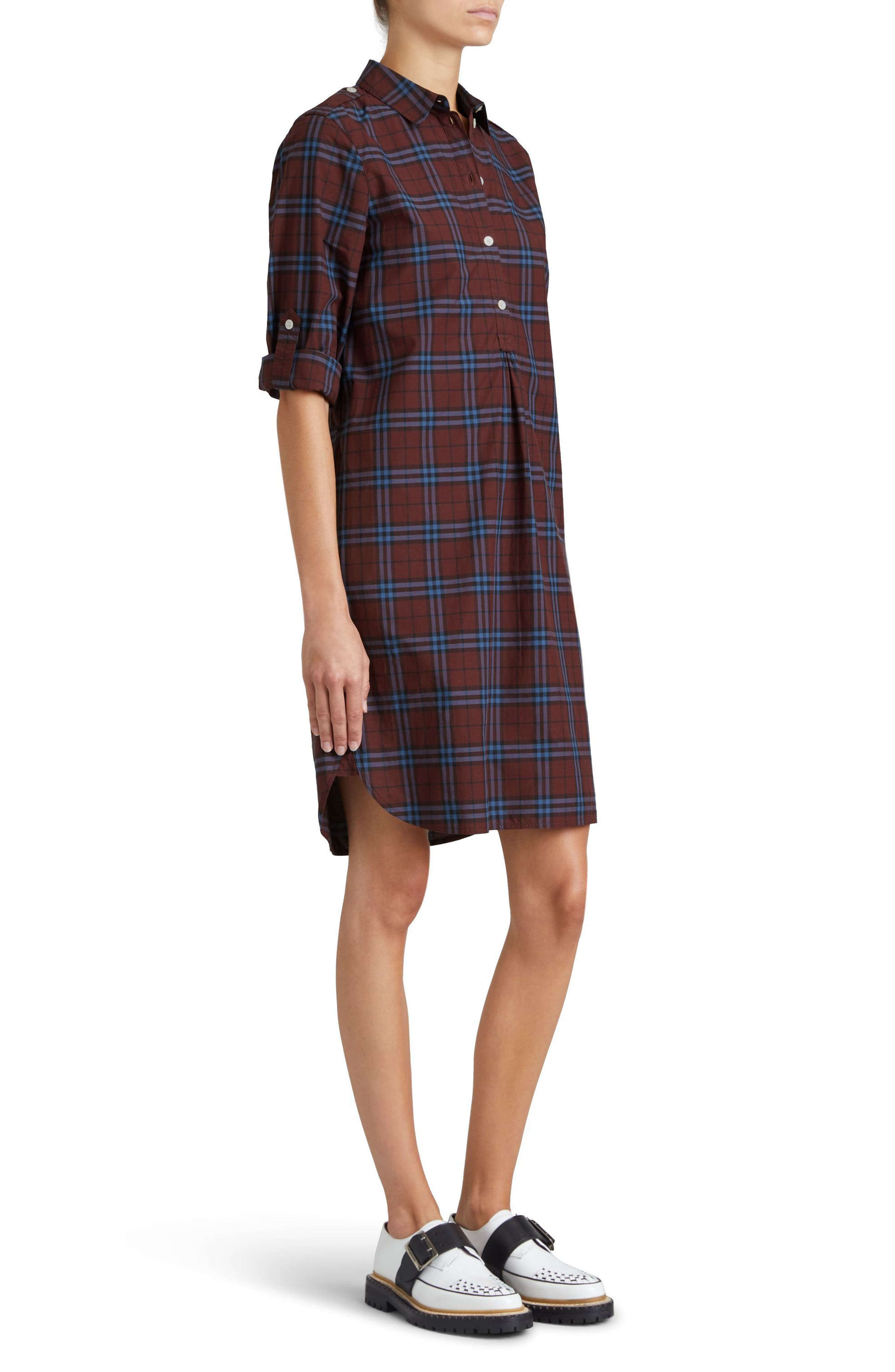 Alternate Image 6  - Burberry Kelsy Cotton Check Shirtdress