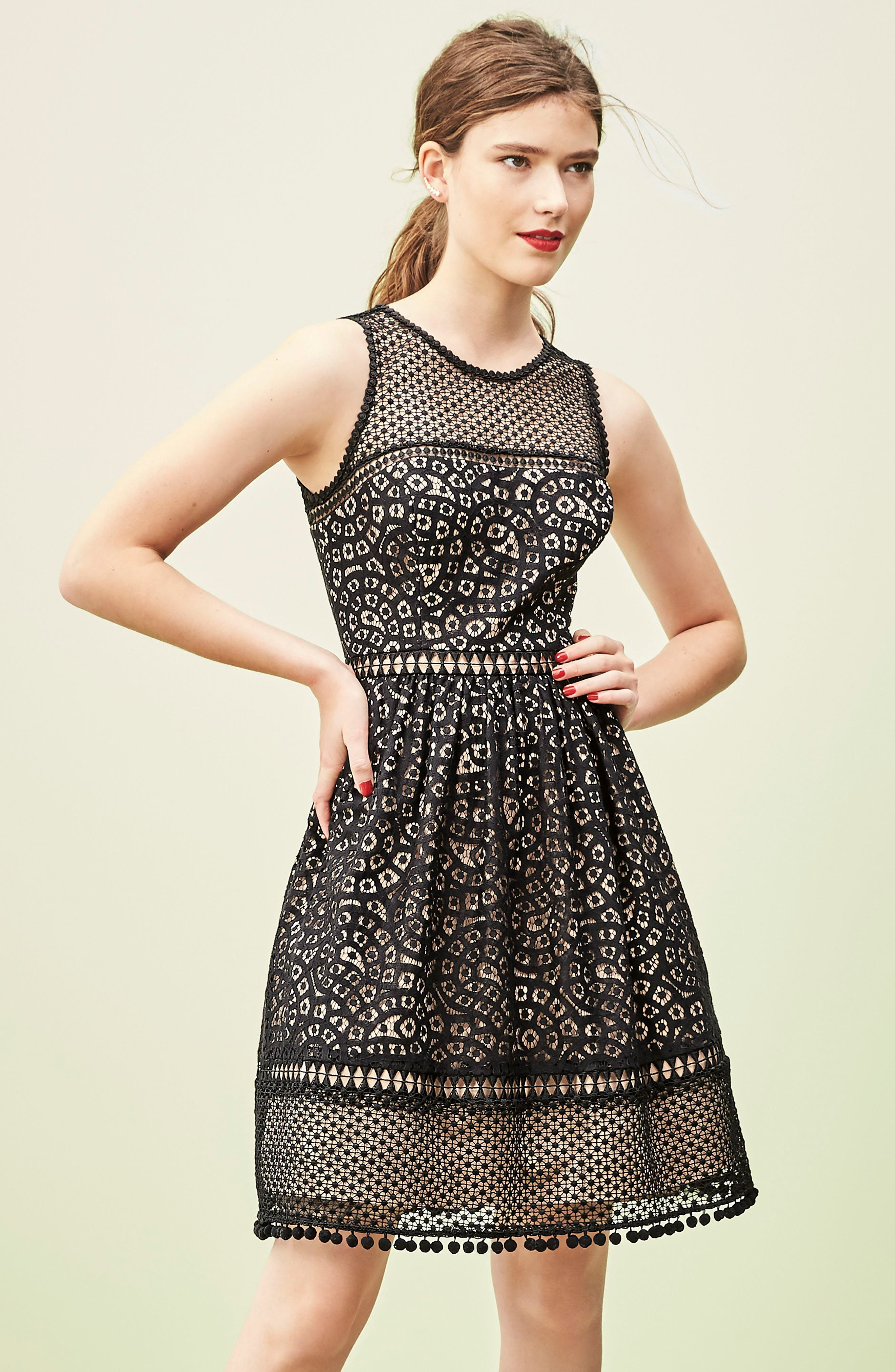 Alternate Image 7  - Eliza J Lace Fit & Flare Dress
