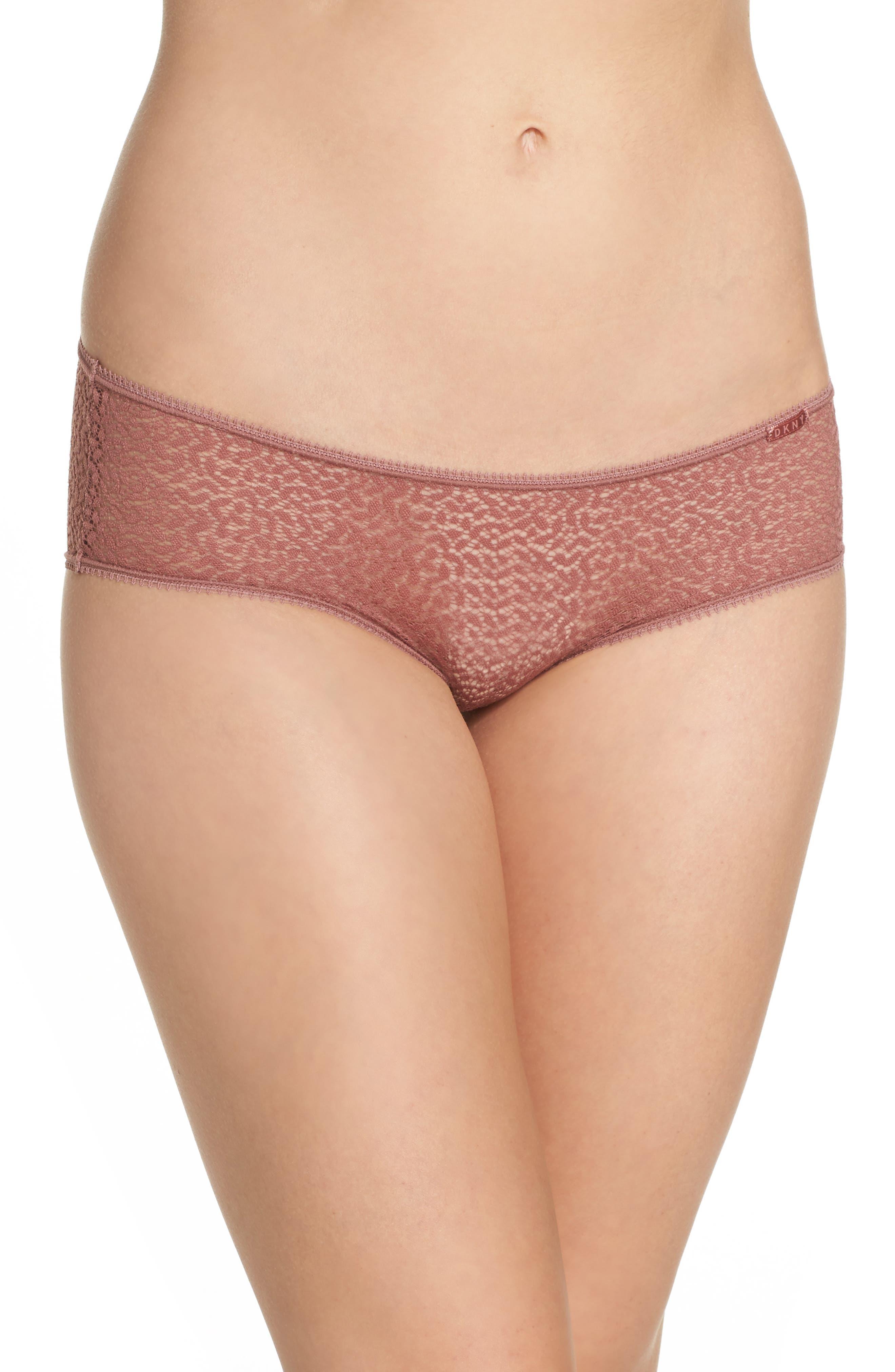 Modern Lace Hipster Panties,                             Main thumbnail 1, color,                             Rosewood 7Nq