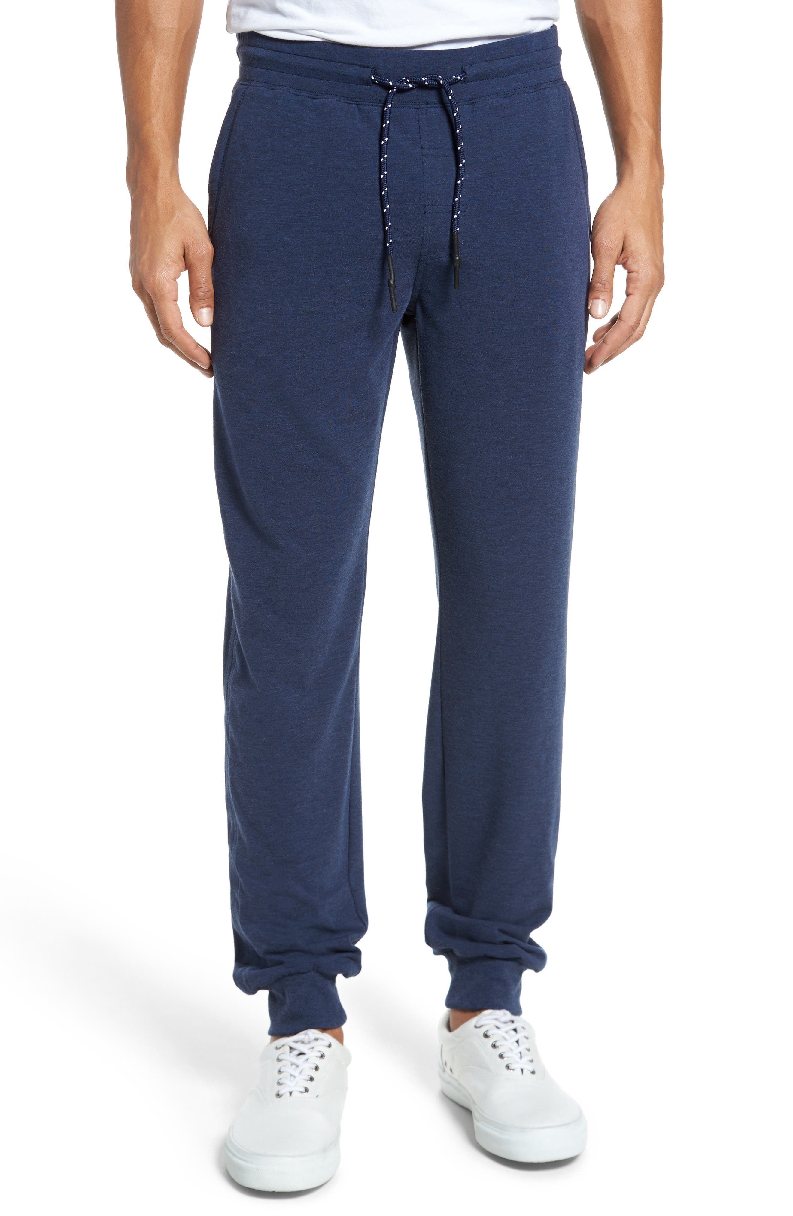 Brushback Fleece Jogger Pants,                         Main,                         color, Navy Heather