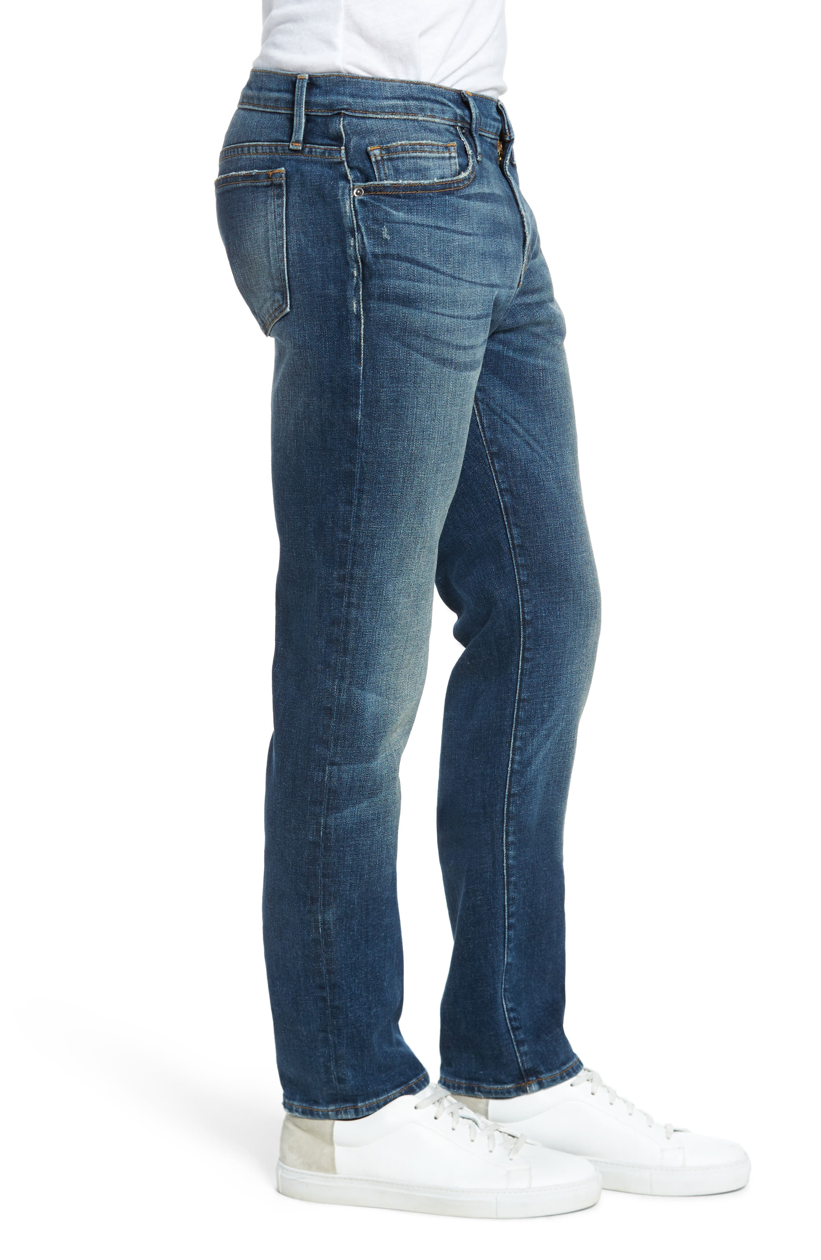 L'Homme Slim Fit Jeans,                             Alternate thumbnail 3, color,                             Salt Lake