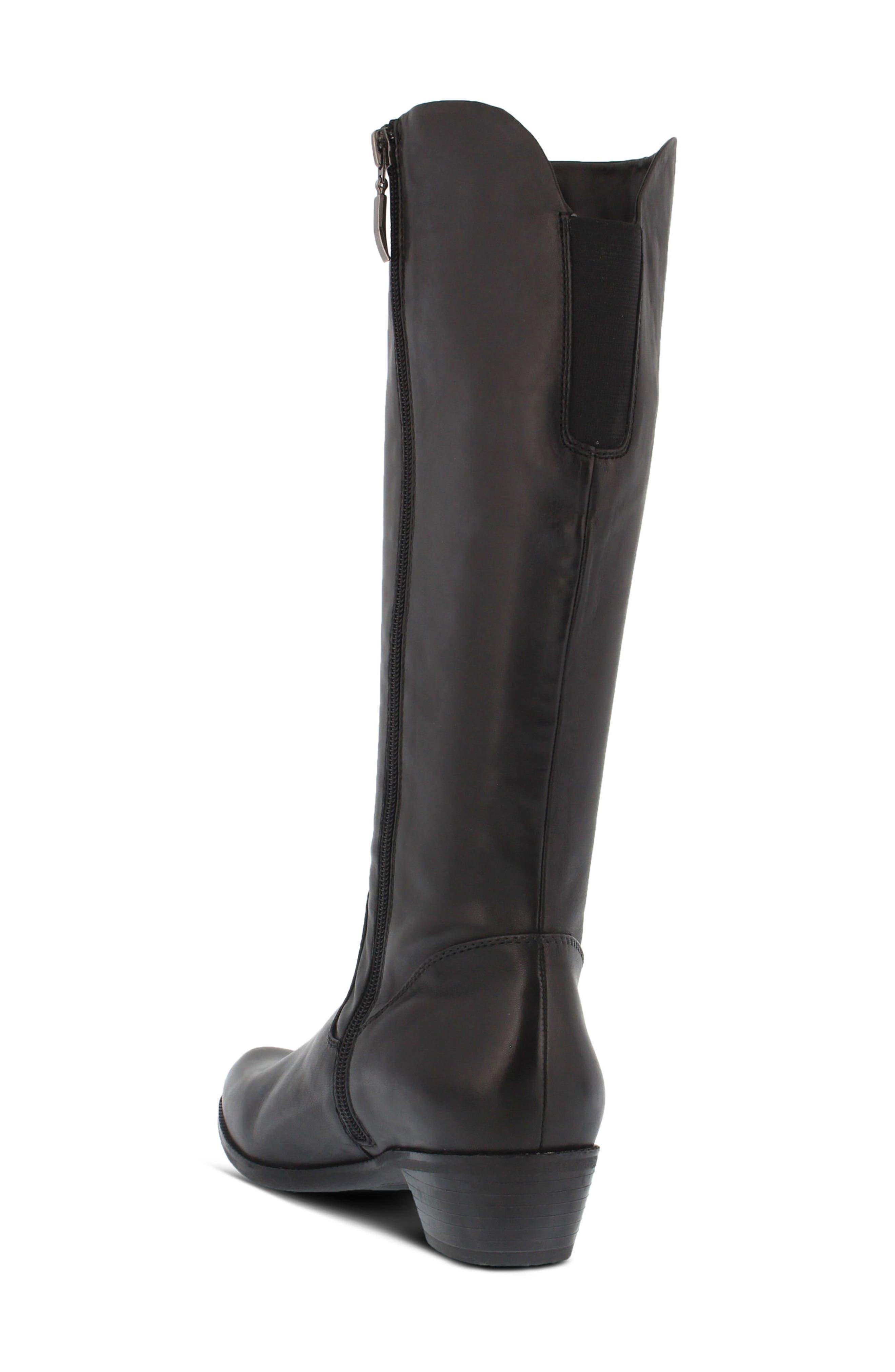 Bolah Tall Boot,                             Alternate thumbnail 2, color,                             Black Leather