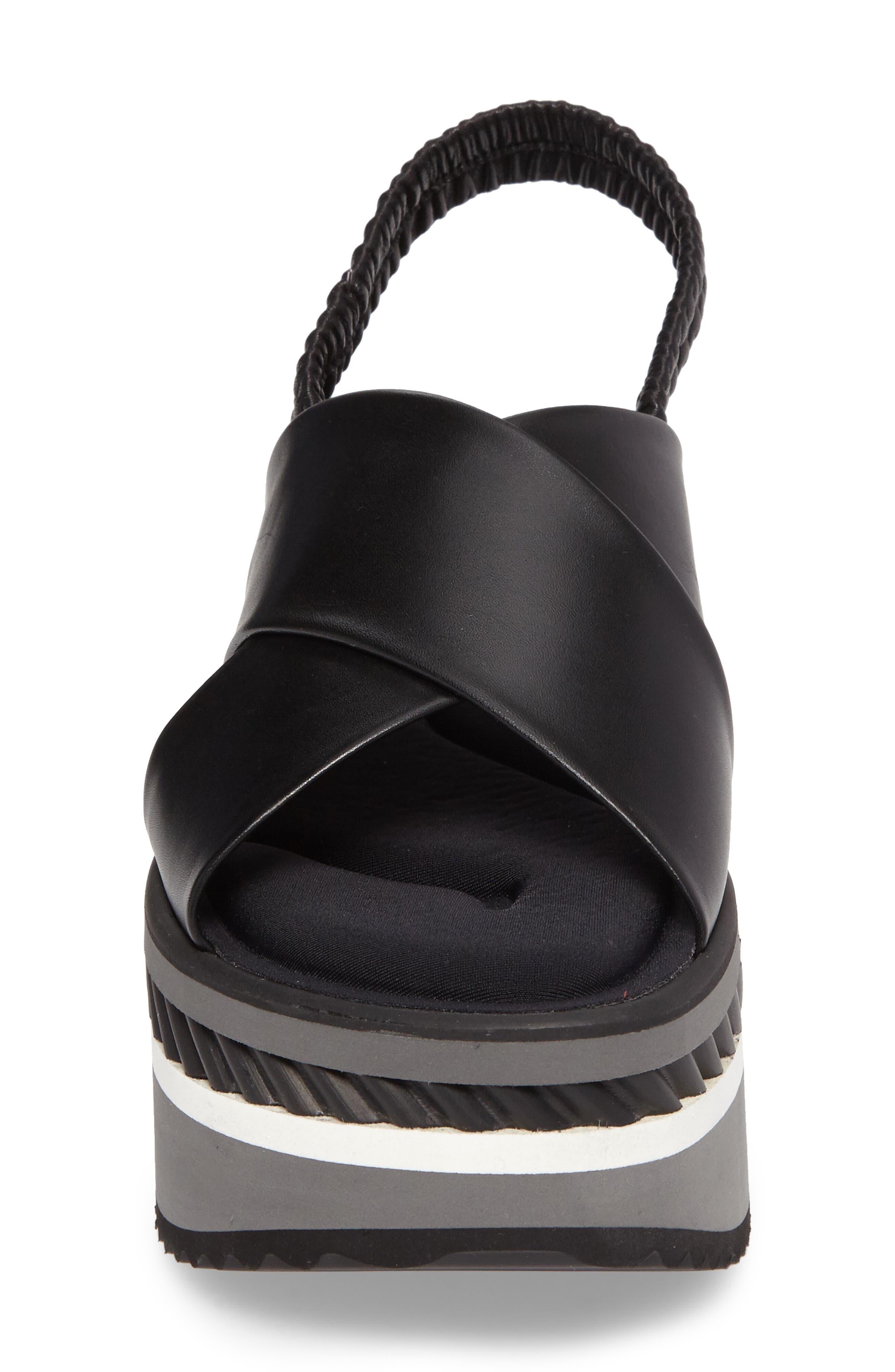 Omin Platform Slingback Sandal,                             Alternate thumbnail 4, color,                             Black