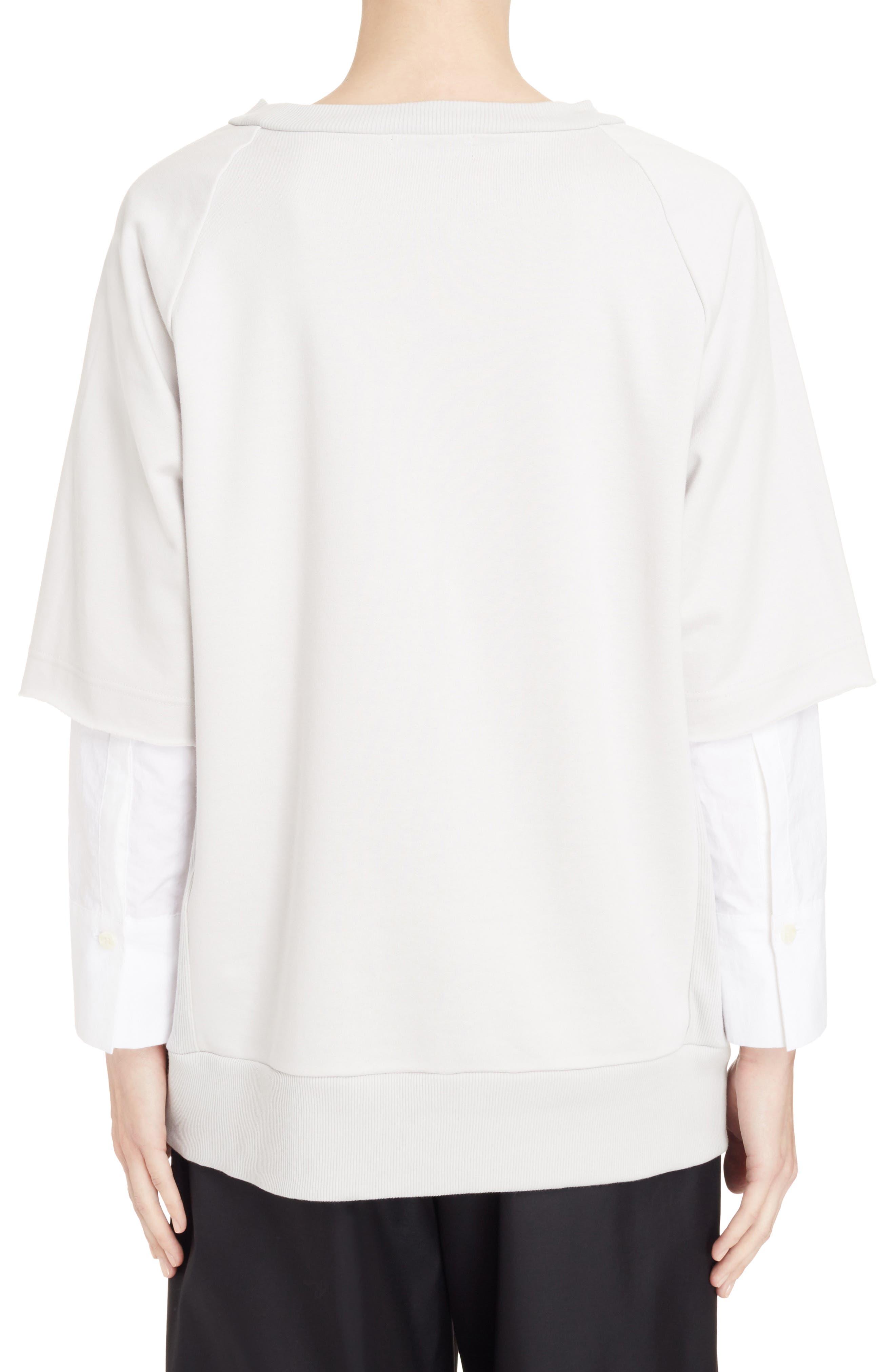Alternate Image 2  - Y's by Yohji Yamamoto Double Sleeve Sweatshirt