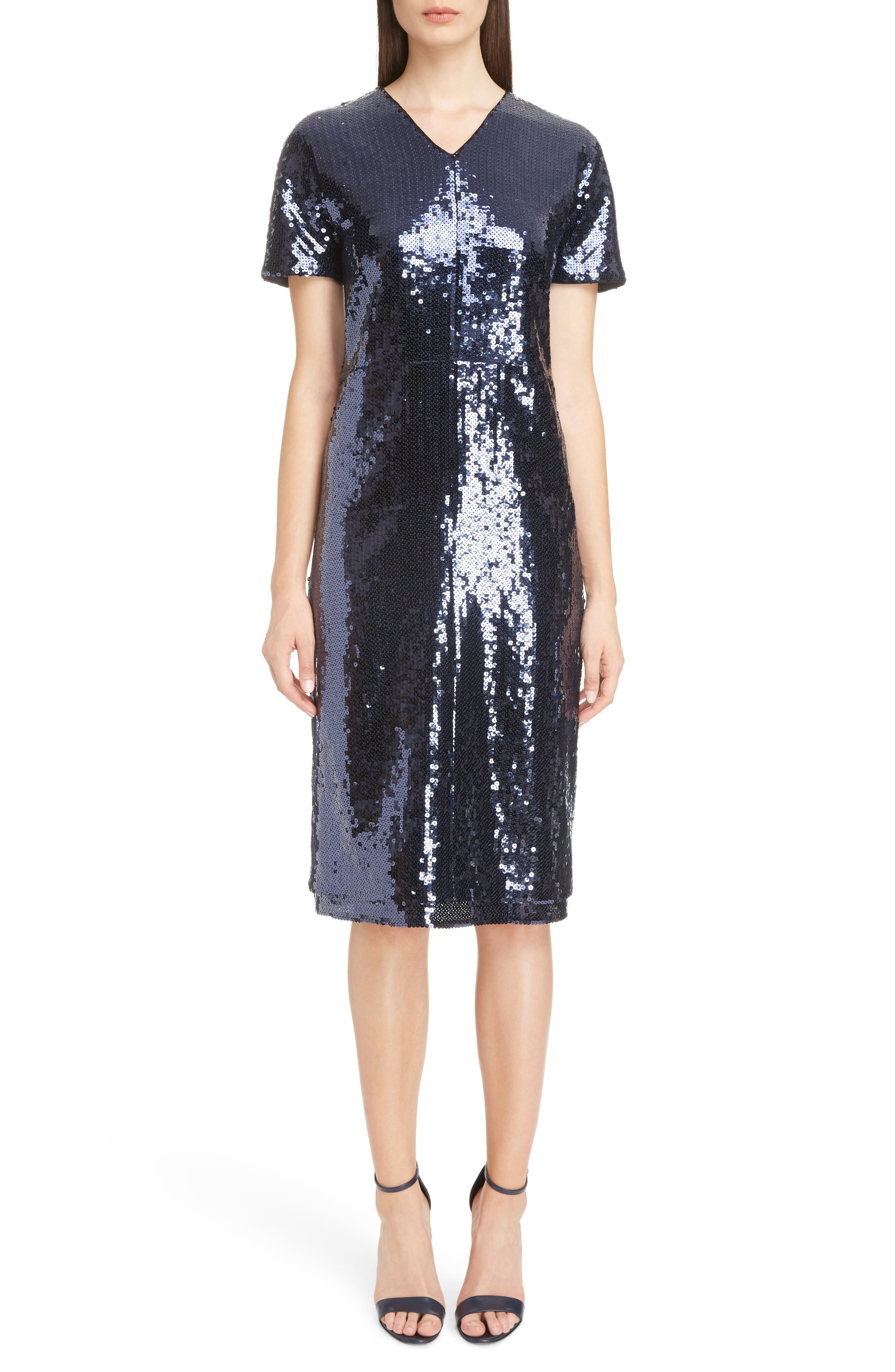 Alternate Image 1 Selected - Victoria, Victoria Beckham Sequin Shift Dress