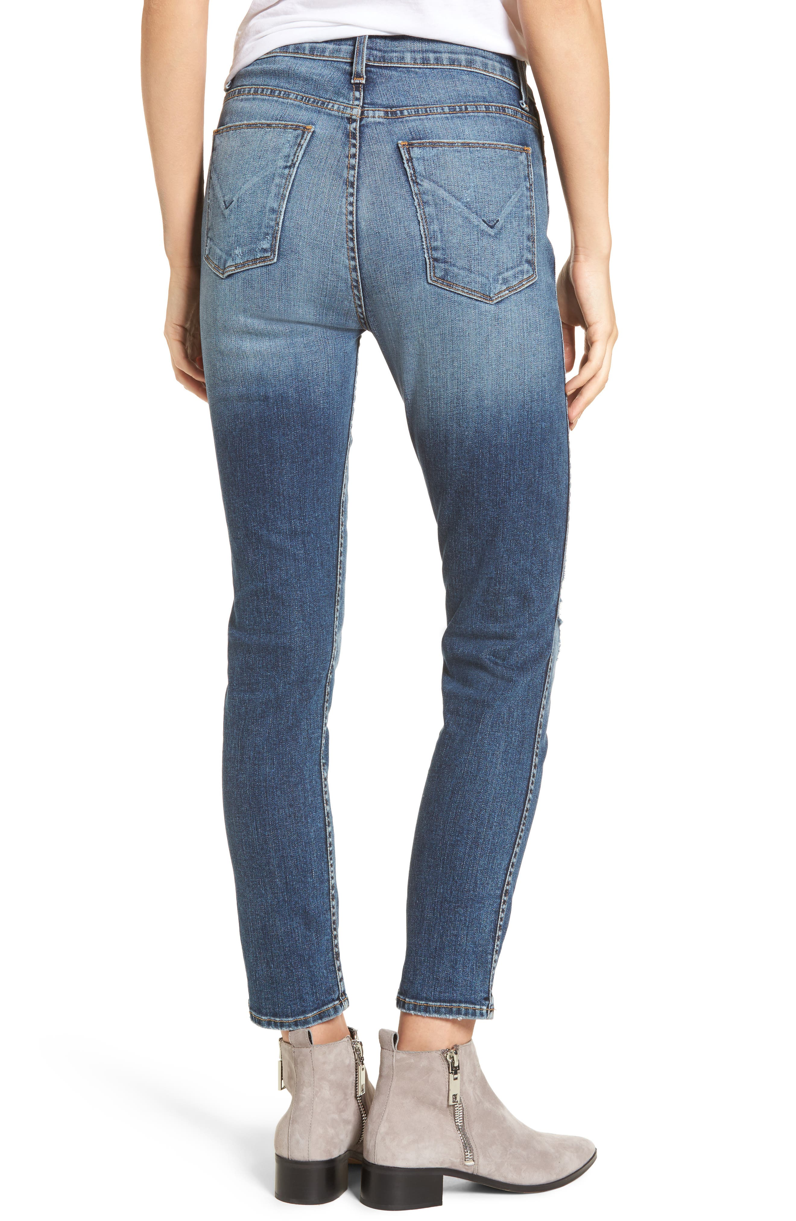 Alternate Image 2  - Hudson Jeans Holly High Waist Ankle Skinny Jeans