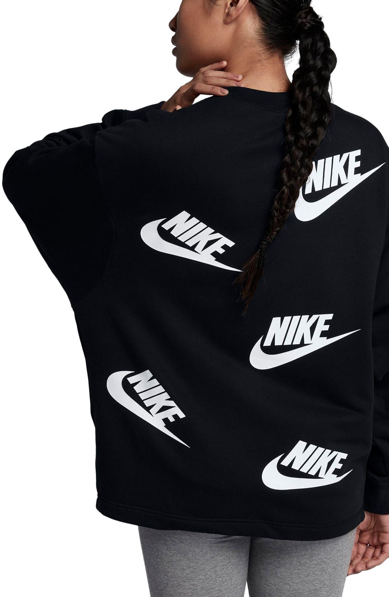 Sportswear Futura Sweatshirt,                             Alternate thumbnail 2, color,                             Black/ White