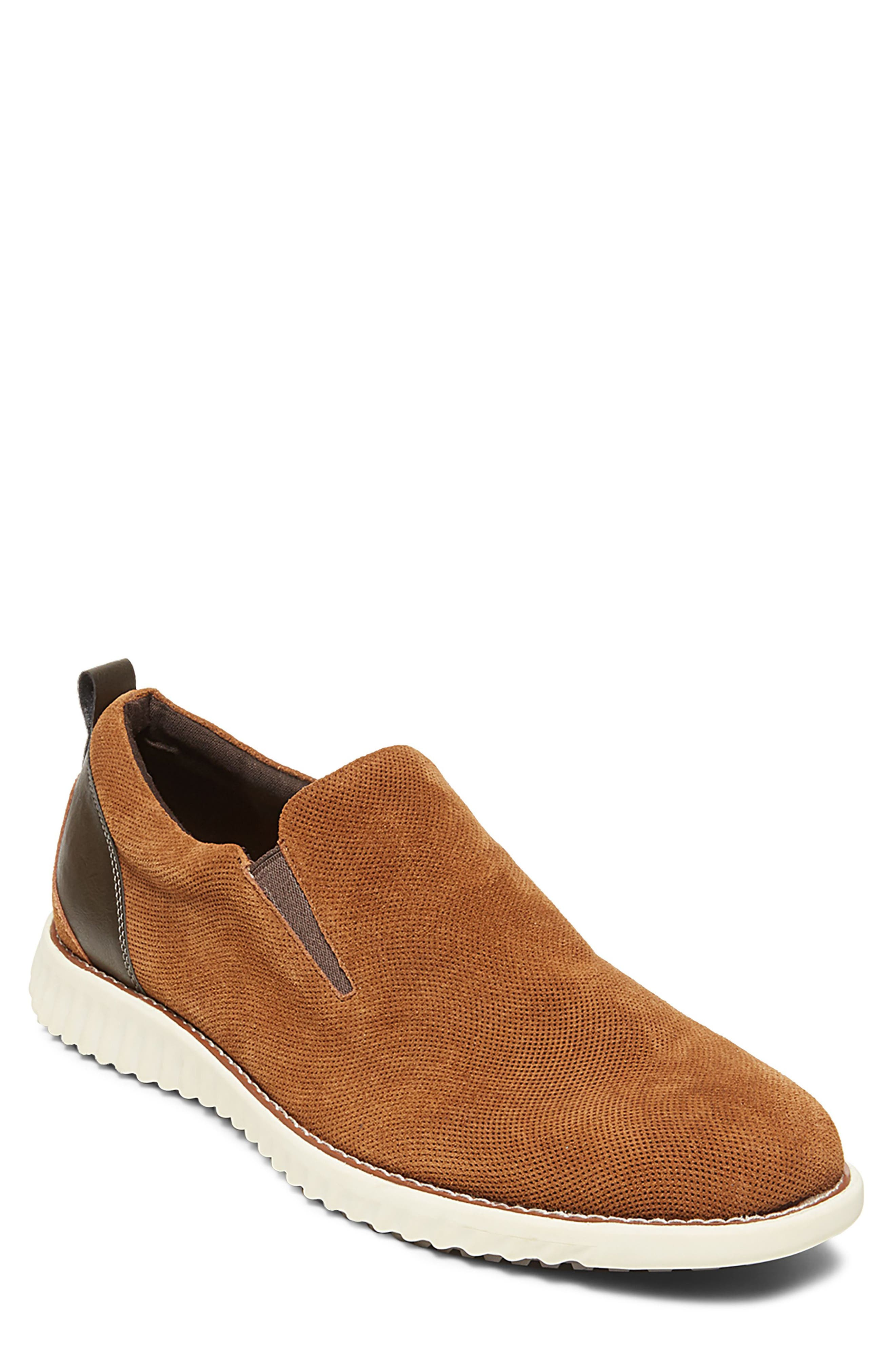 Virgil Slip-On,                             Main thumbnail 1, color,                             Tan Suede